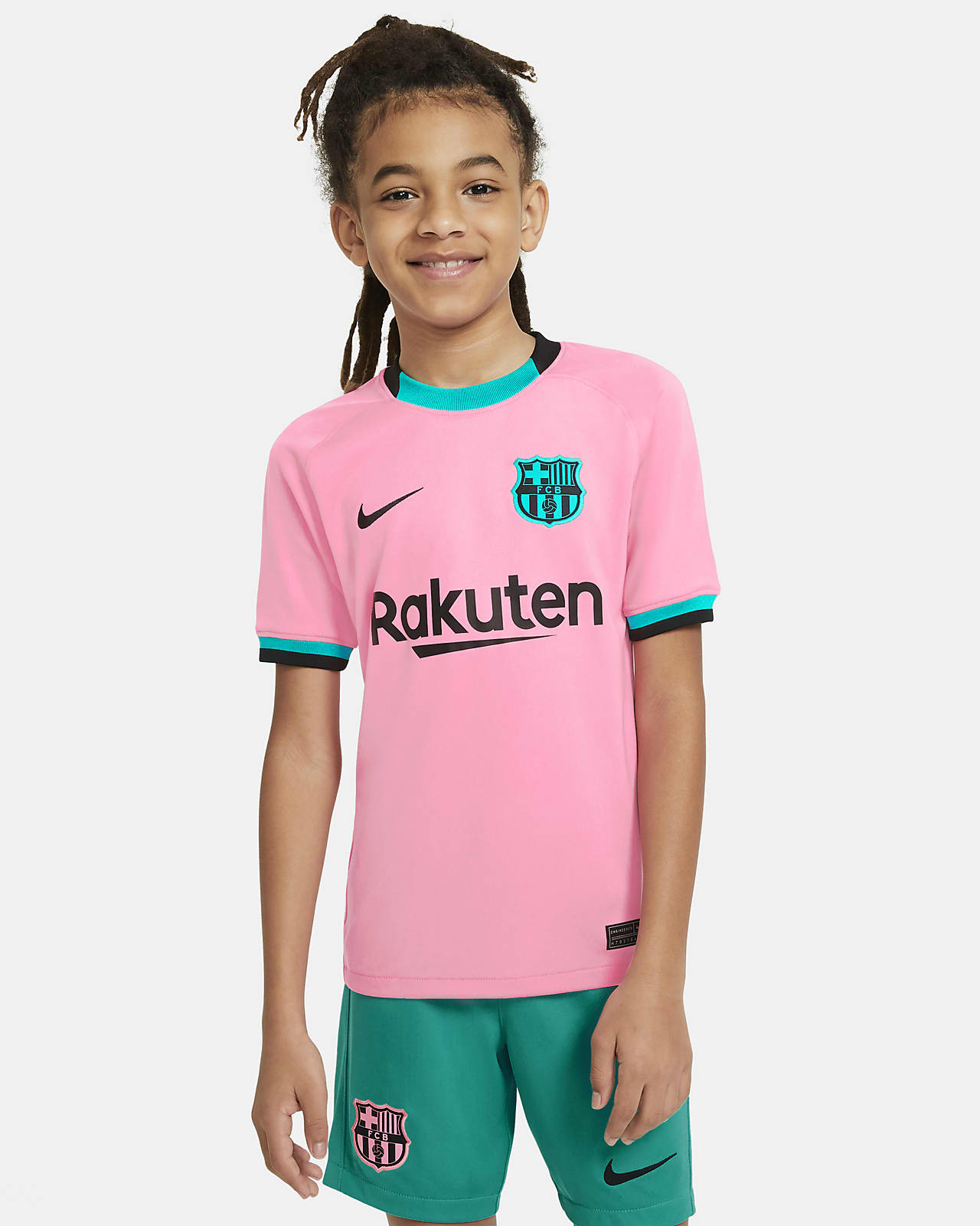 FC Barcelona 2020/21 Stadium Third Big Kids' Soccer Jersey
