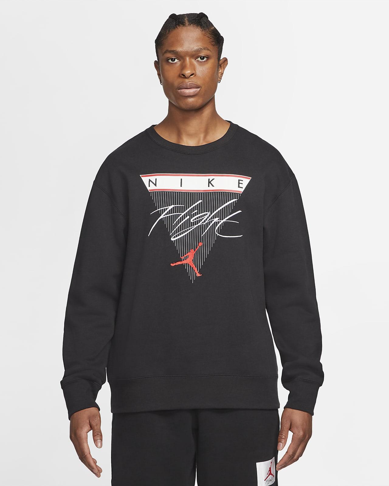 Sweat-shirt col ras-du-cou en tissu Fleece à motif Jordan Flight pour Homme