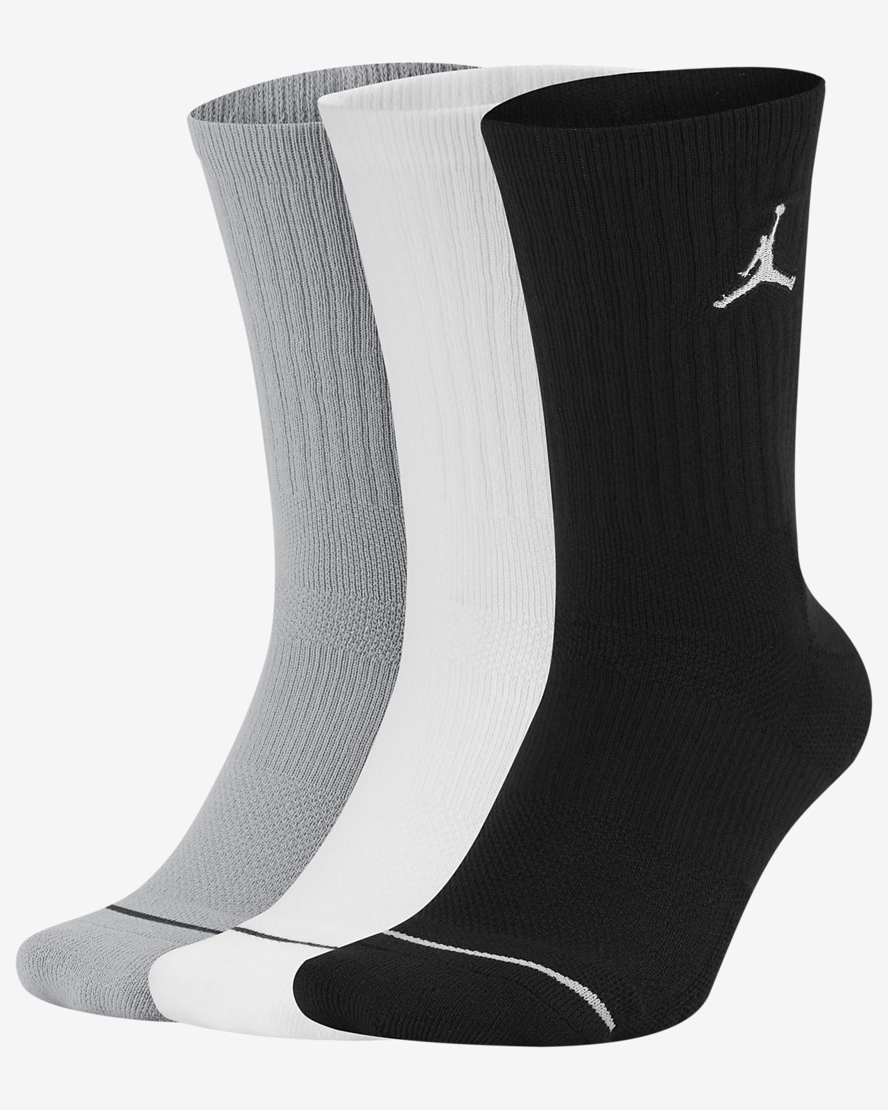 Nike Jordan Jumpman Dri-Fit Crew Socks 3 Pack Multi SX5545-011