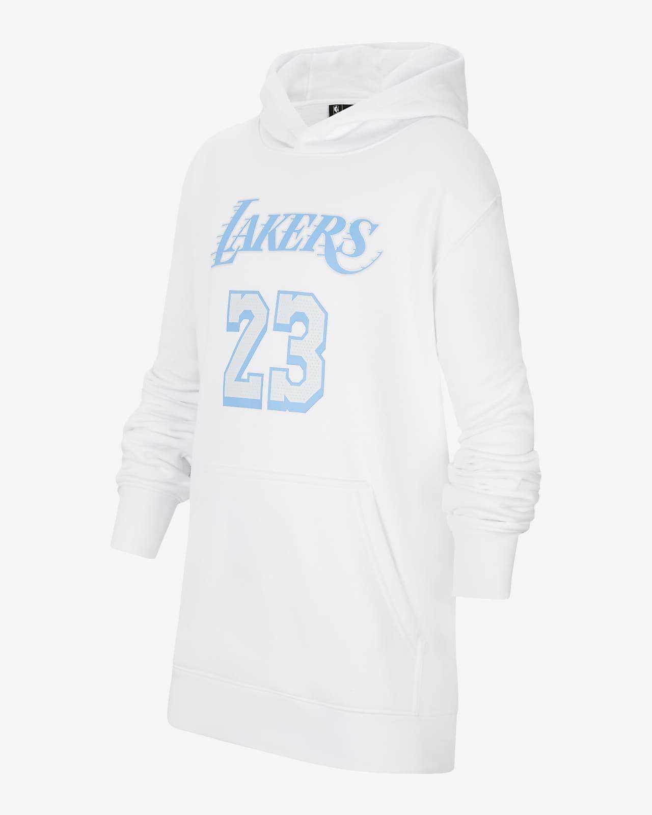 LeBron James Lakers City Edition Older Kids' Nike NBA Pullover Hoodie