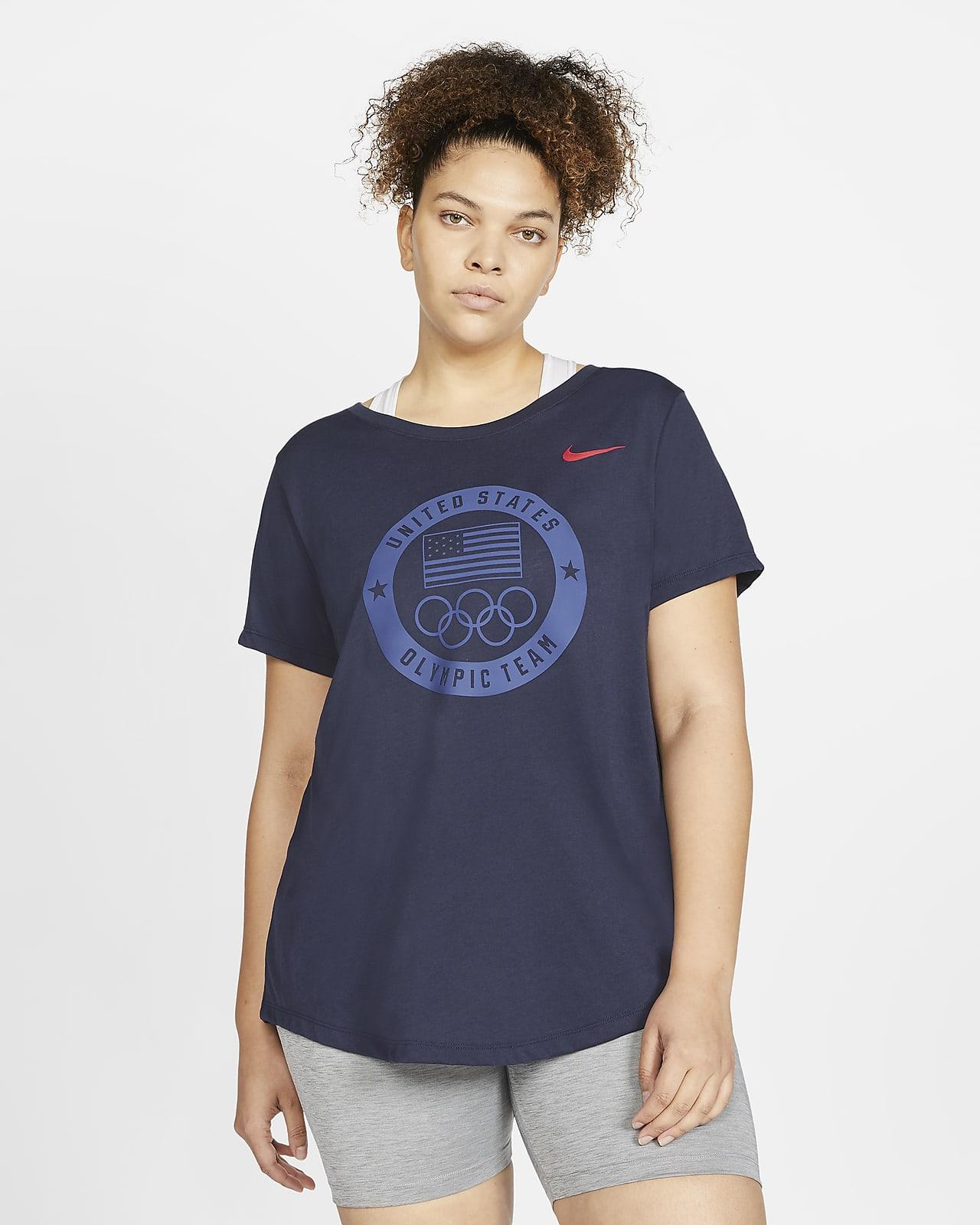 Playera de entrenamiento para mujer Nike Team USA (talla grande)