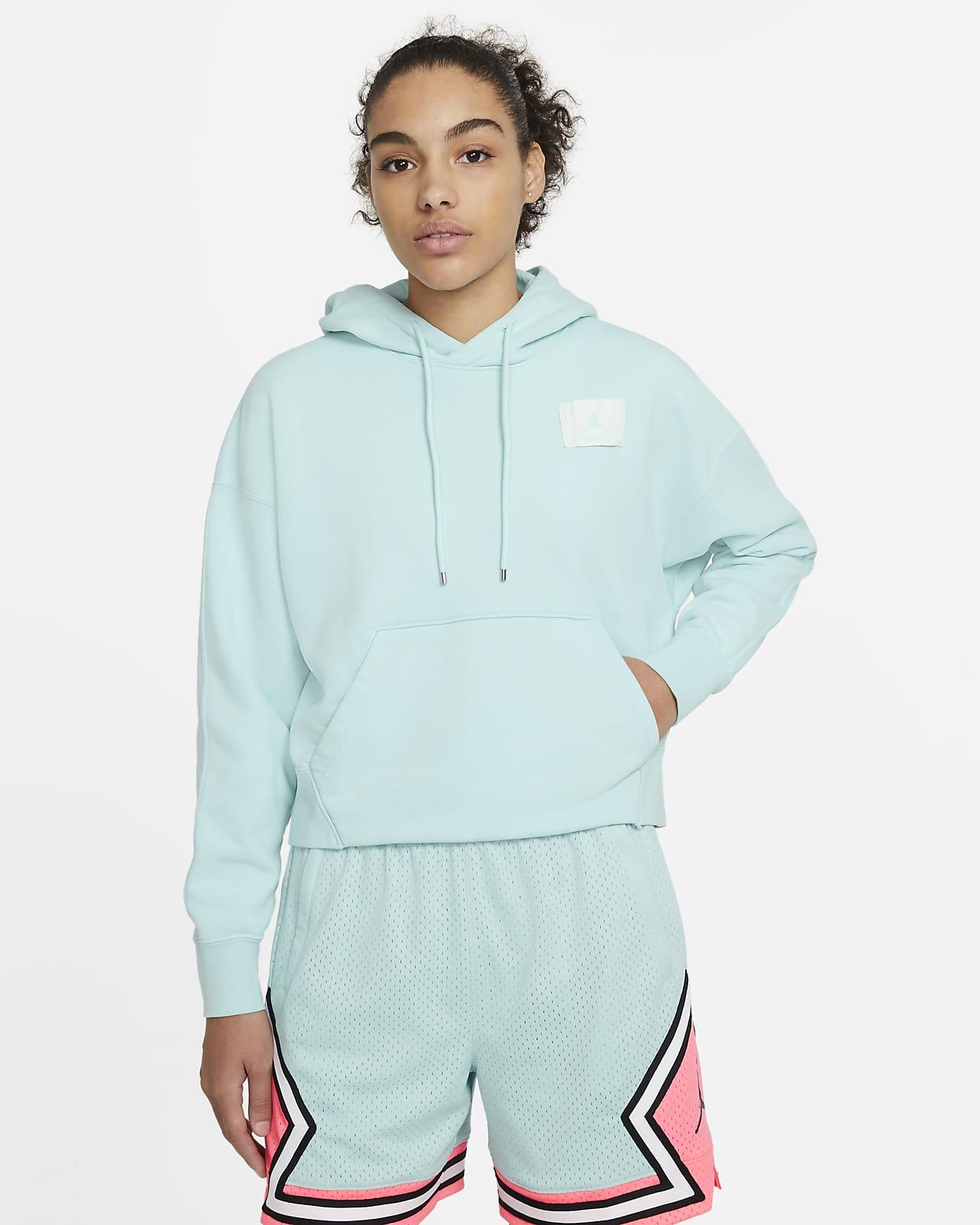 Felpa pullover in fleece con cappuccio Jordan Flight - Donna