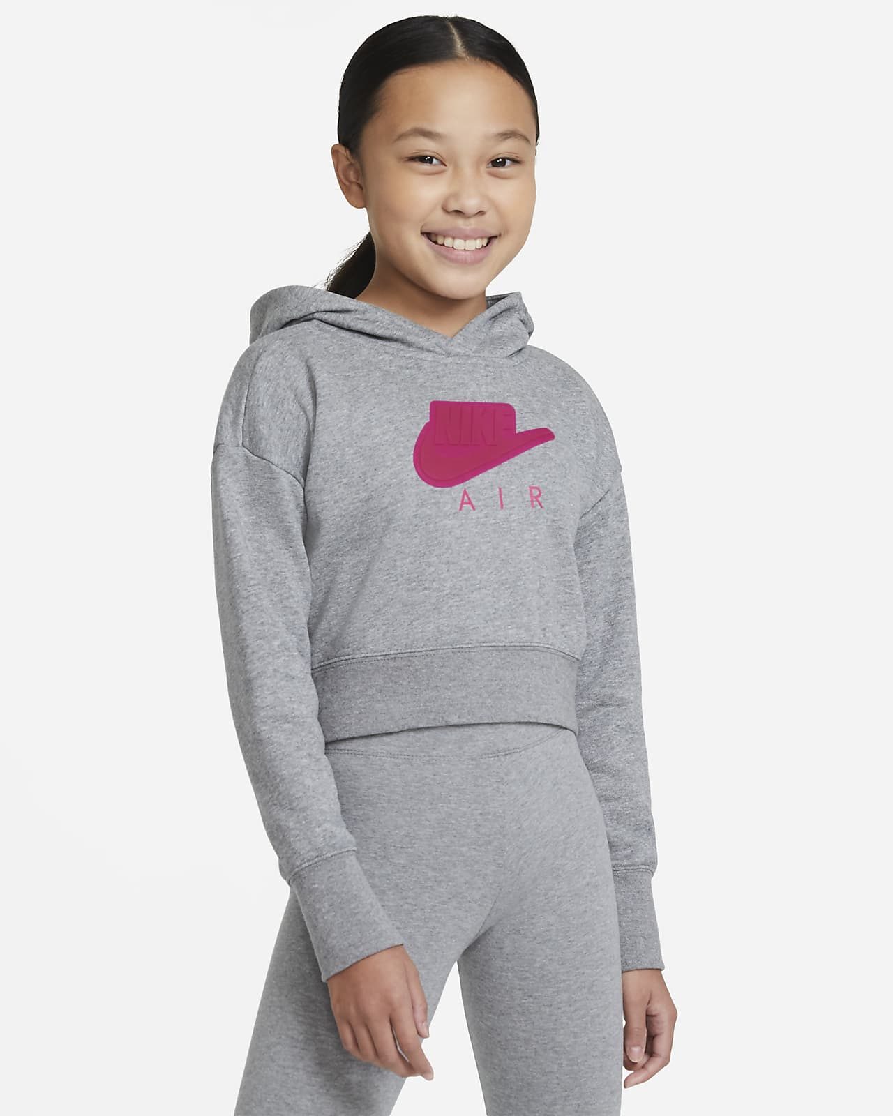 Nike Air Crop-Hoodie aus French Terry für ältere Kinder (Mädchen)