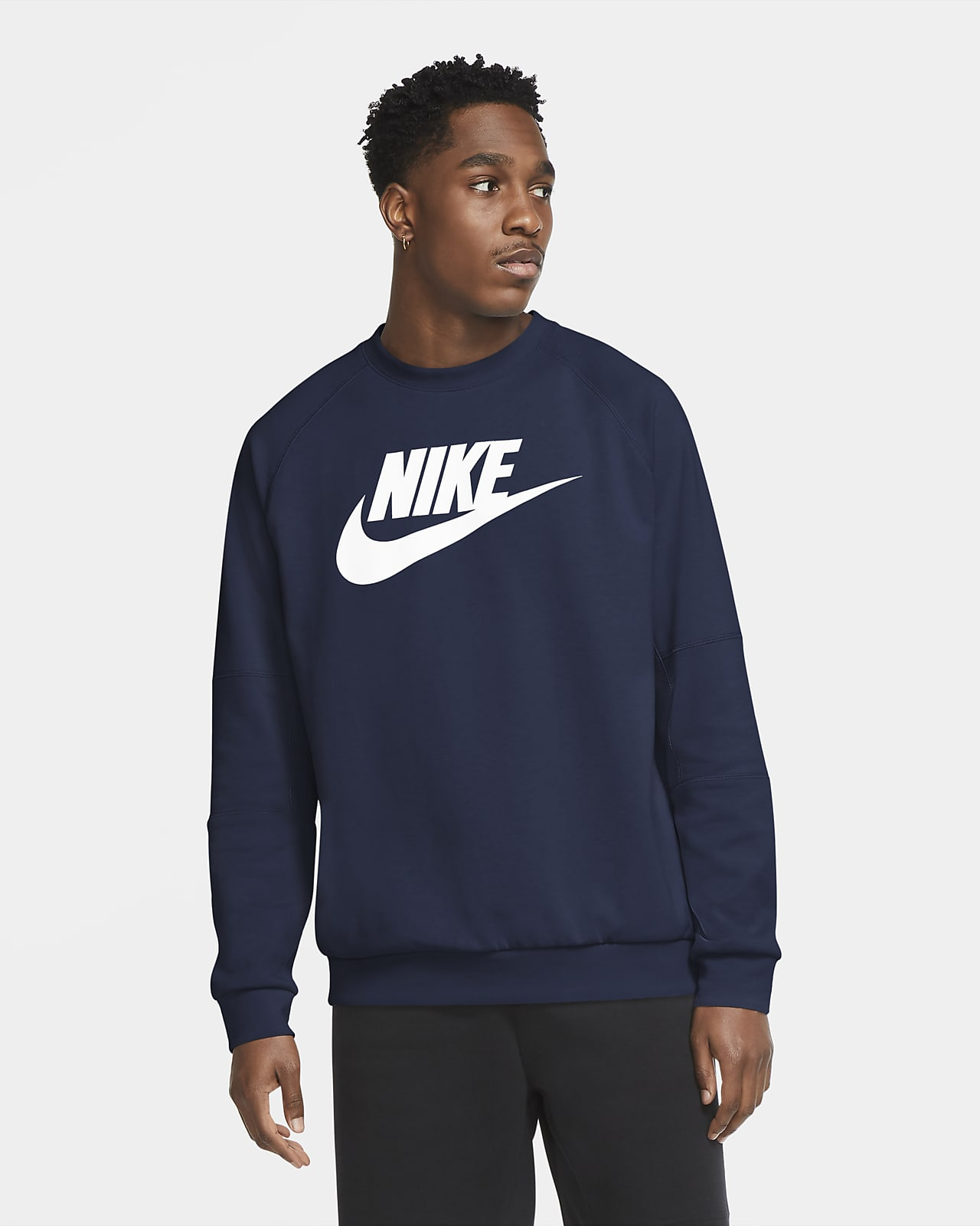 Nike Sportswear-crewtrøje i fleece til mænd