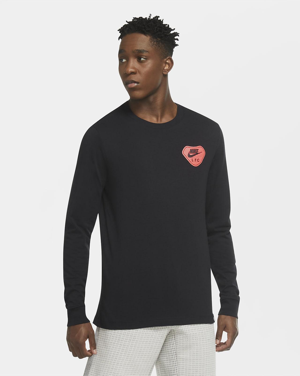 Camisola de futebol de manga comprida Liverpool FC para homem