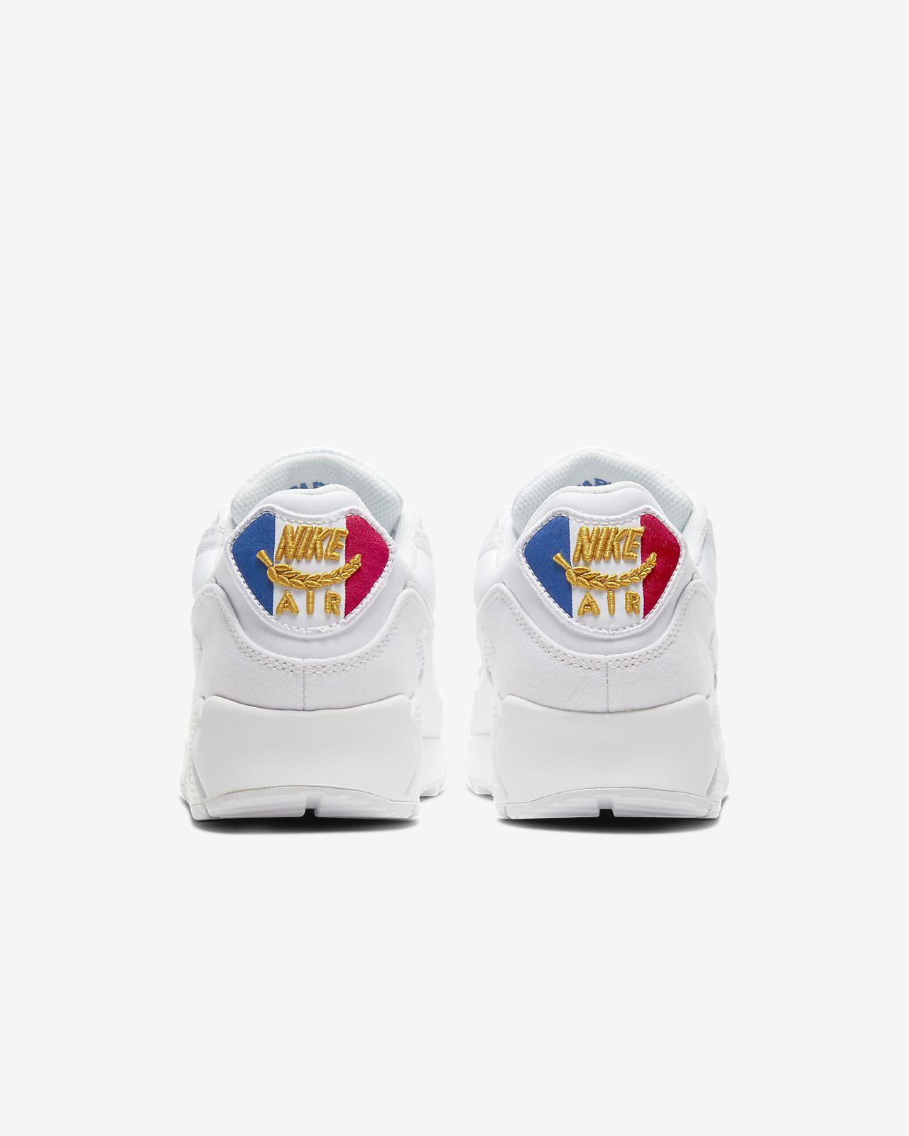 Details about Nike Air Max 90 Premium Paris City White Sail Blue Men Lifestyle Shoe CQ0912 100