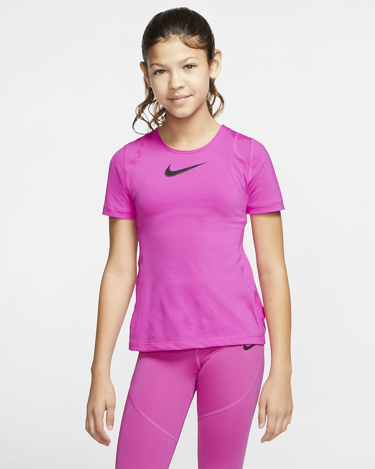 Haut à manches courtes Nike Pro pour Fille plus âgée