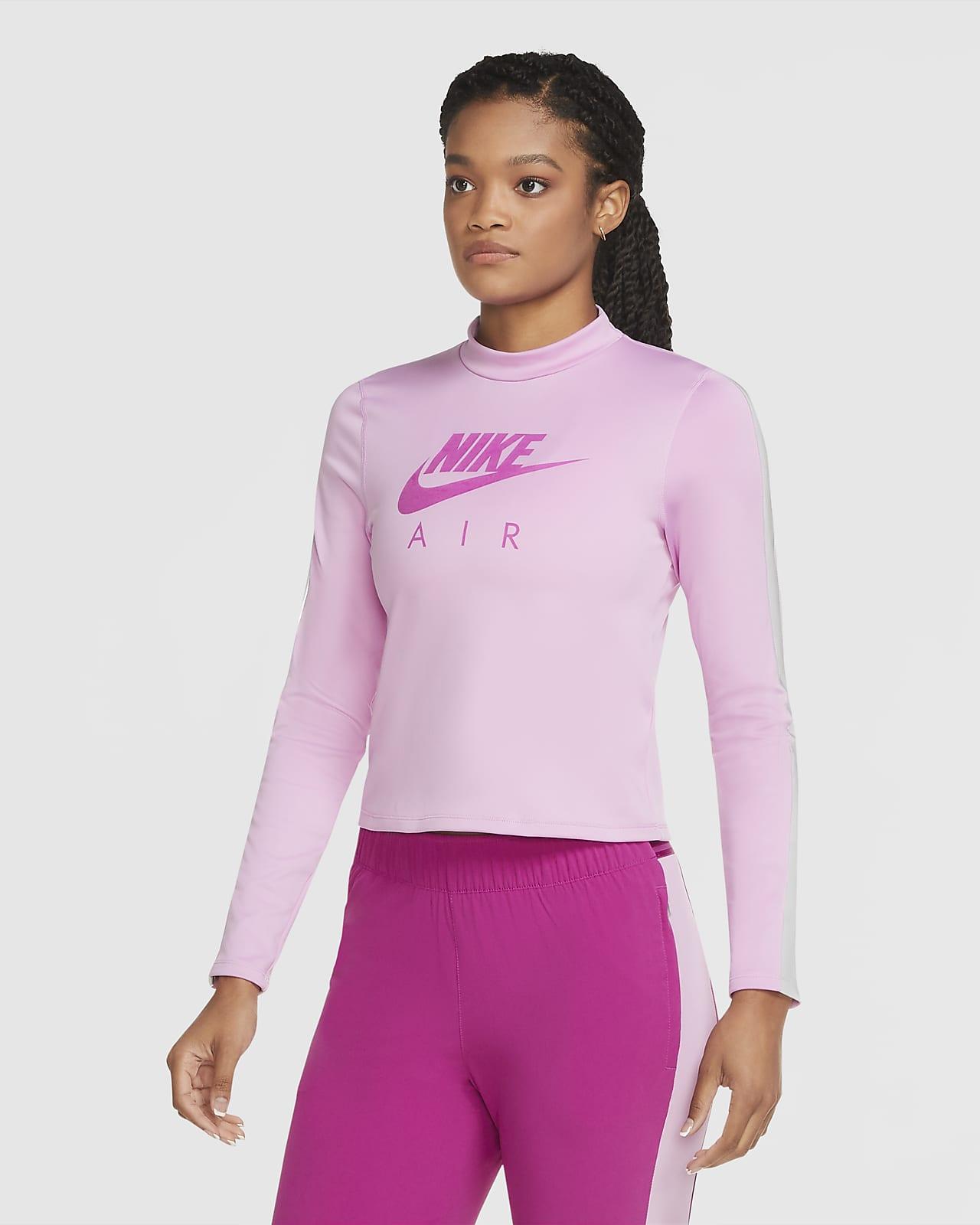 Camisola de running de camada intermédia de manga comprida Nike Air para mulher