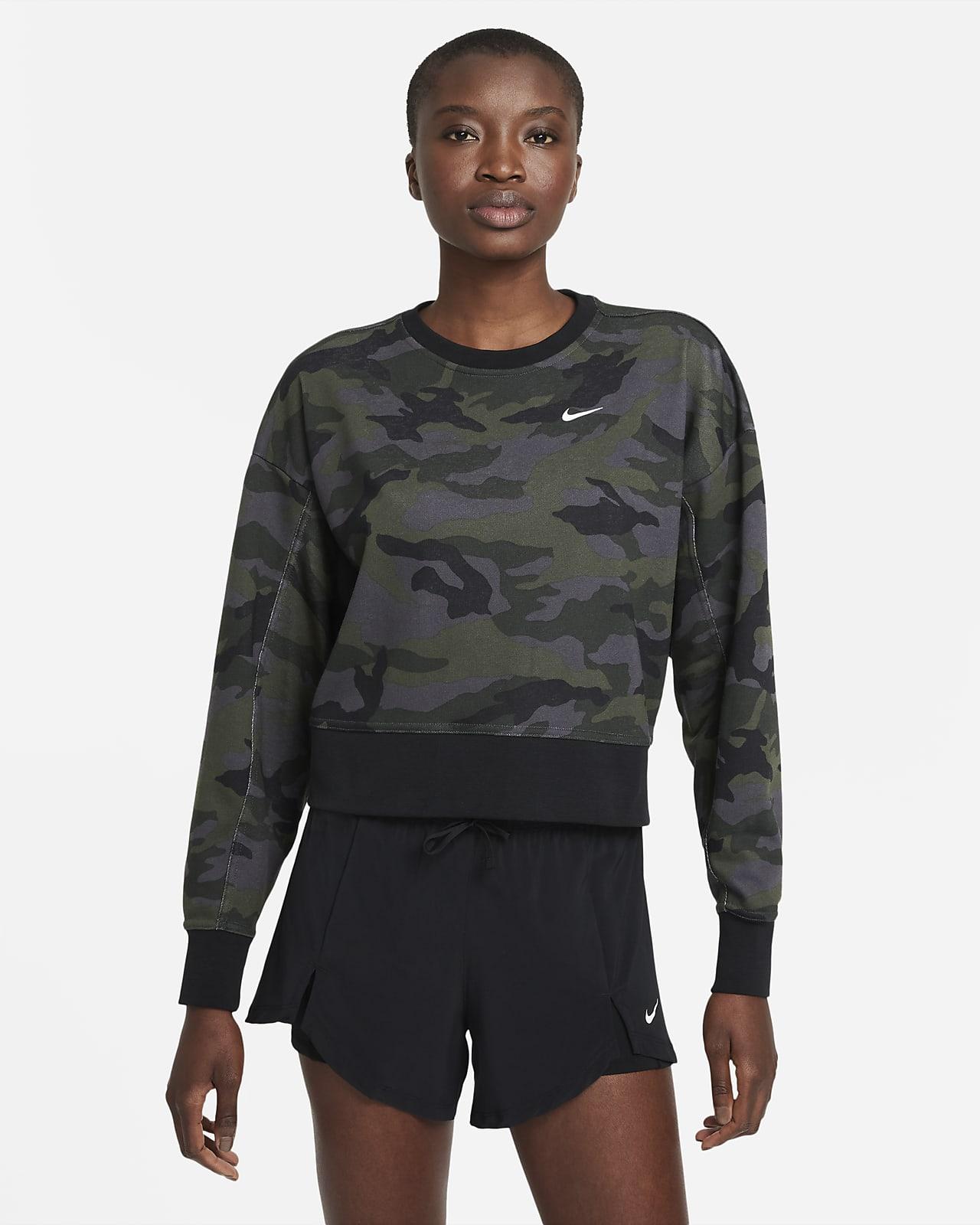 Nike Dri-FIT Get Fit Women's Camo Training Crew