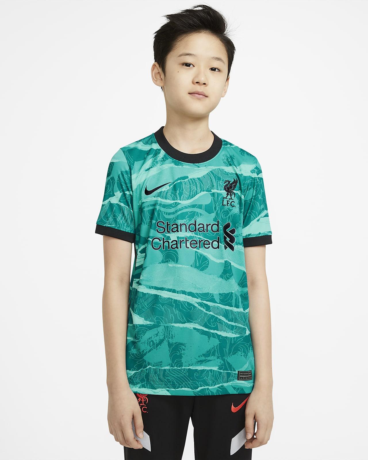 Fotbollströja Liverpool FC 2020/21 Stadium (bortaställ) för ungdom