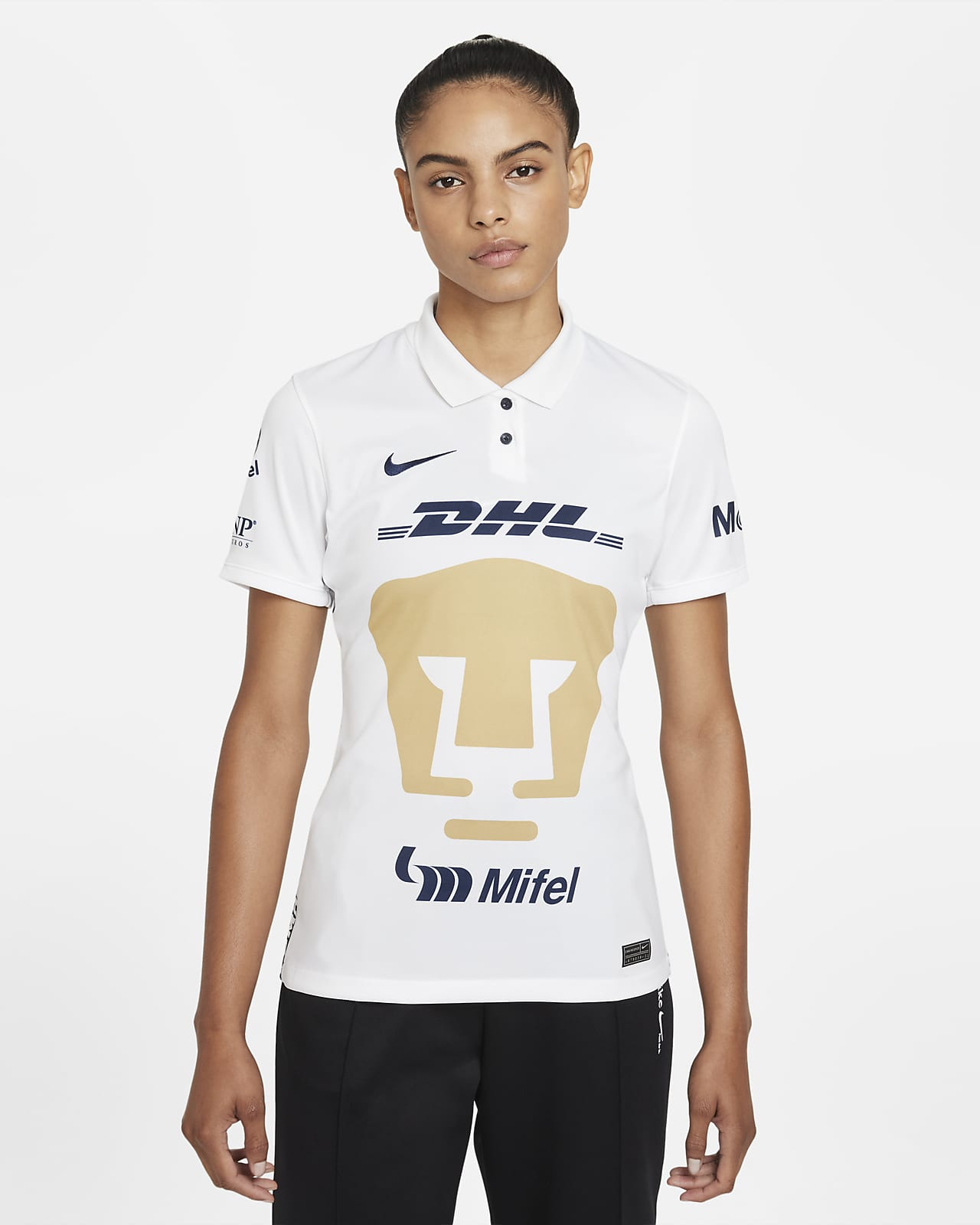 Jersey de fútbol Nike Dri-FIT de Pumas UNAM local 2021/22 Stadium para mujer