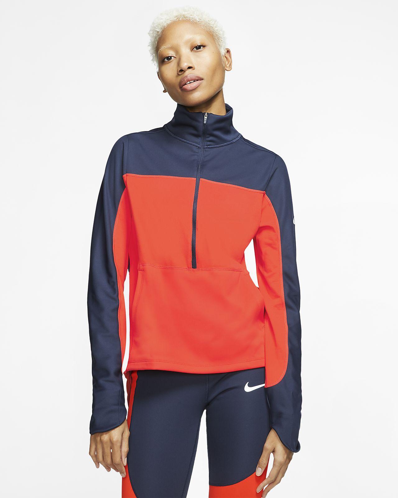 Haut de running à demi-zip Nike Repel pour Femme