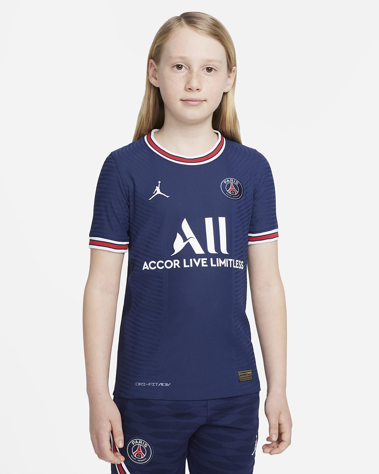 Camiseta de fútbol Nike Dri-FIT ADV para niños talla grande Paris Saint-Germain 2021/22 Match Home