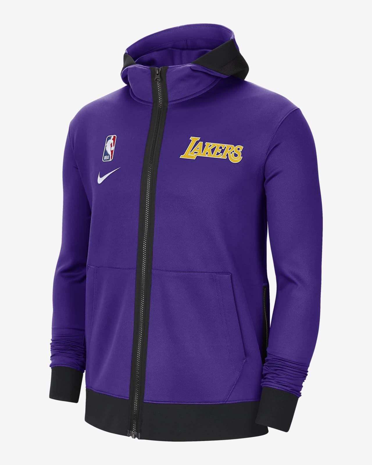 Sweat à capuche NBA Nike Therma Flex Los Angeles Lakers Showtime pour Homme