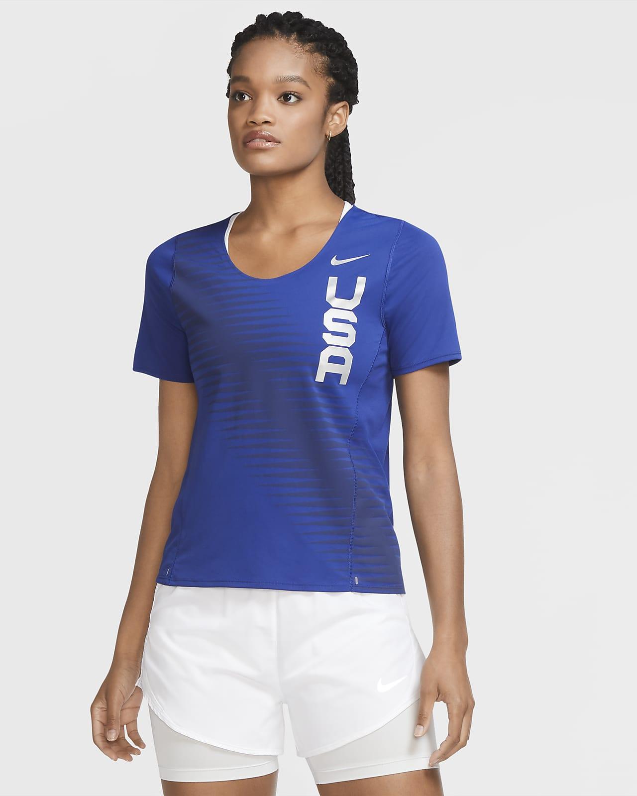 Nike Team USA City Sleek Women's Running Top