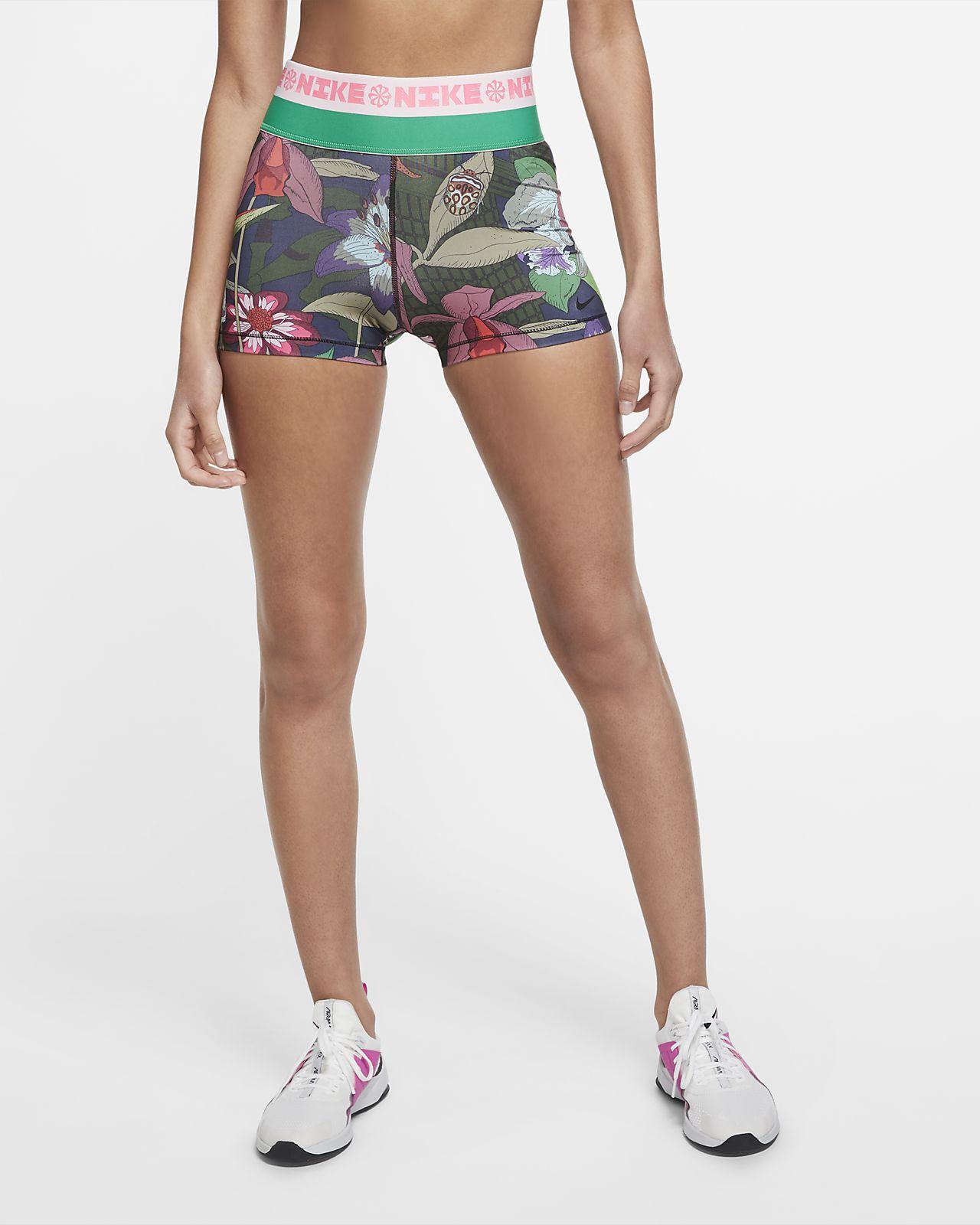 กางเกงเทรนนิ่งขาสั้นผู้หญิง 3 นิ้วพิมพ์ลาย Nike Icon Clash