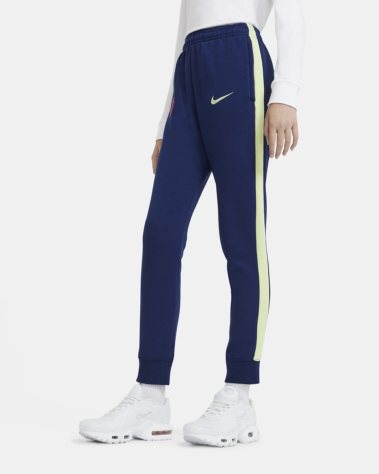 Pantalon de football en tissu Fleece FC Barcelona pour Enfant plus âgé
