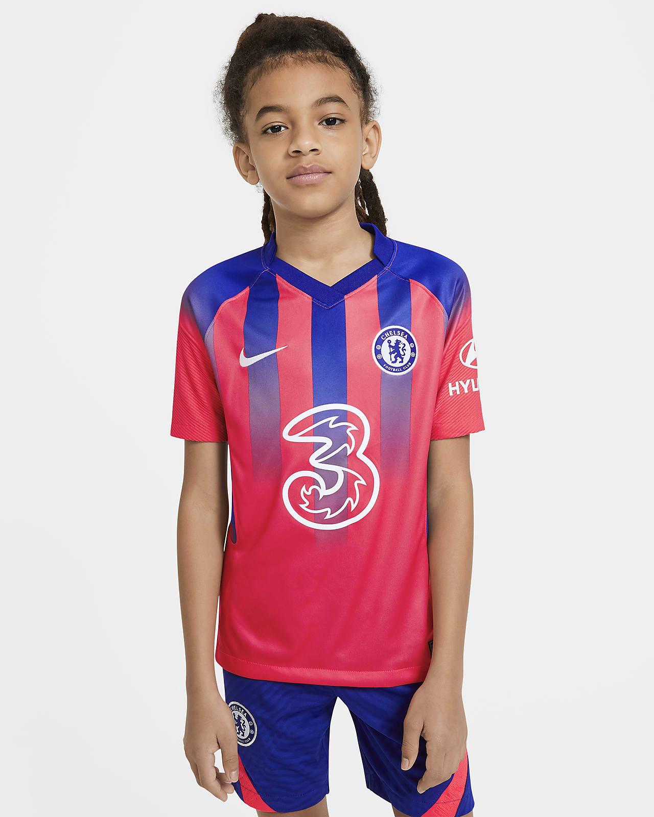 Camiseta de fútbol alternativa para niños talla grande Stadium del Chelsea FC 2020/21