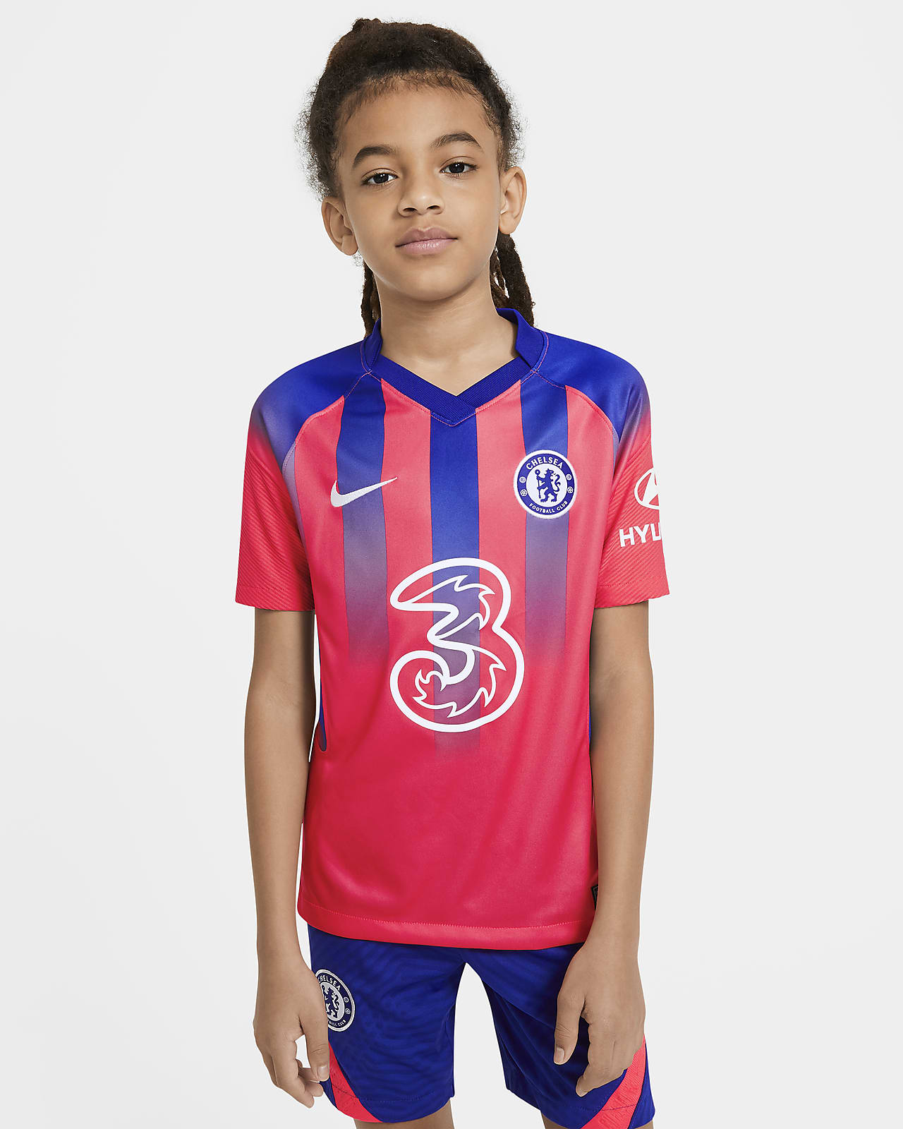 Chelsea F.C. 2020/21 Stadium Third Older Kids' Football Shirt