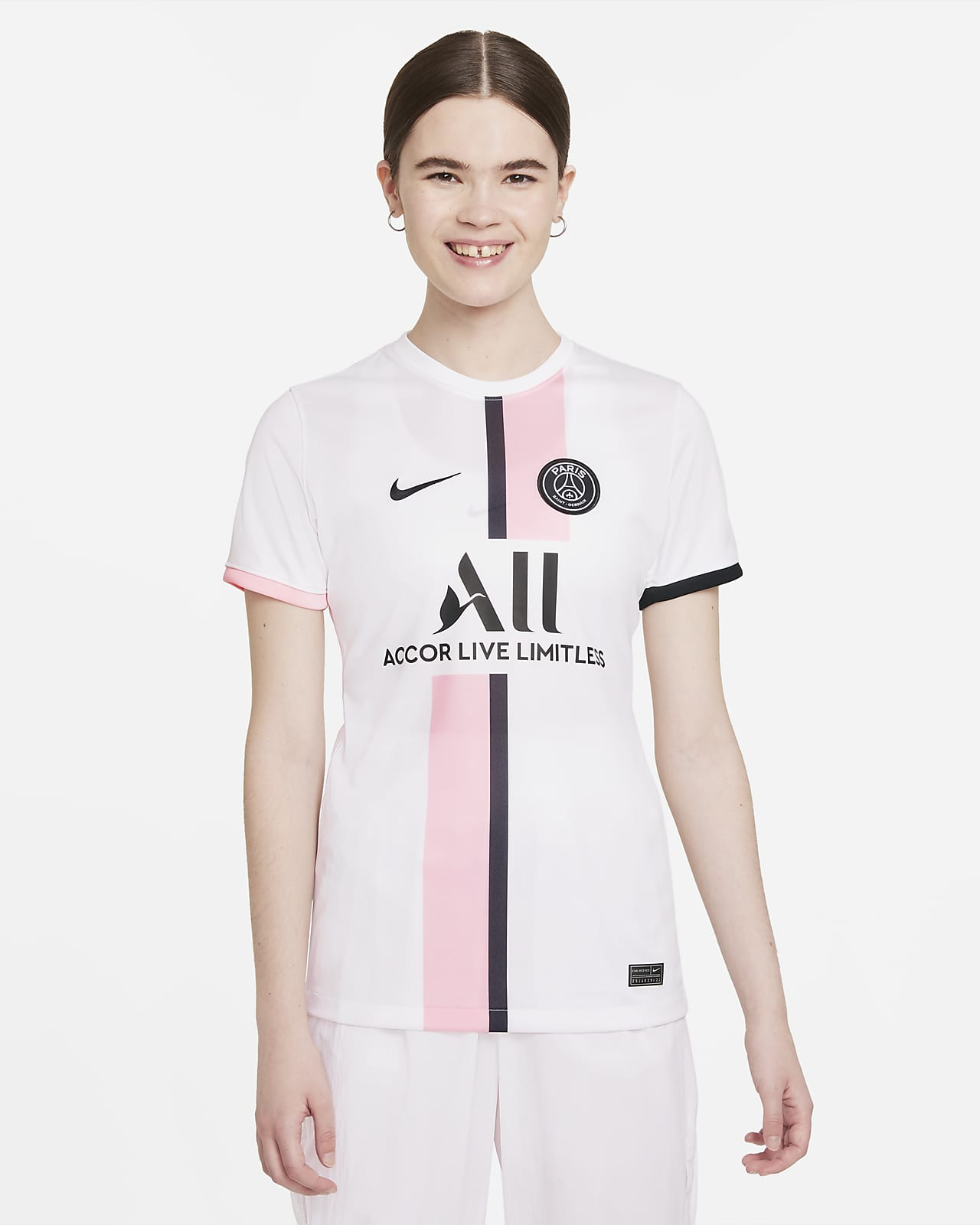 Jersey de fútbol Nike Dri-FIT del Paris Saint-Germain visitante 2021/22 Stadium para mujer