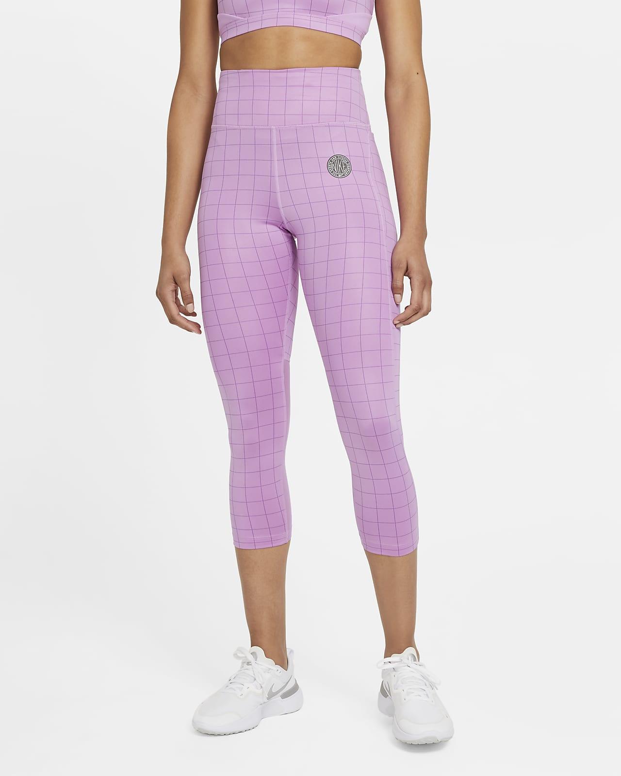 Женские укороченные леггинсы для бега Nike Epic Fast Femme