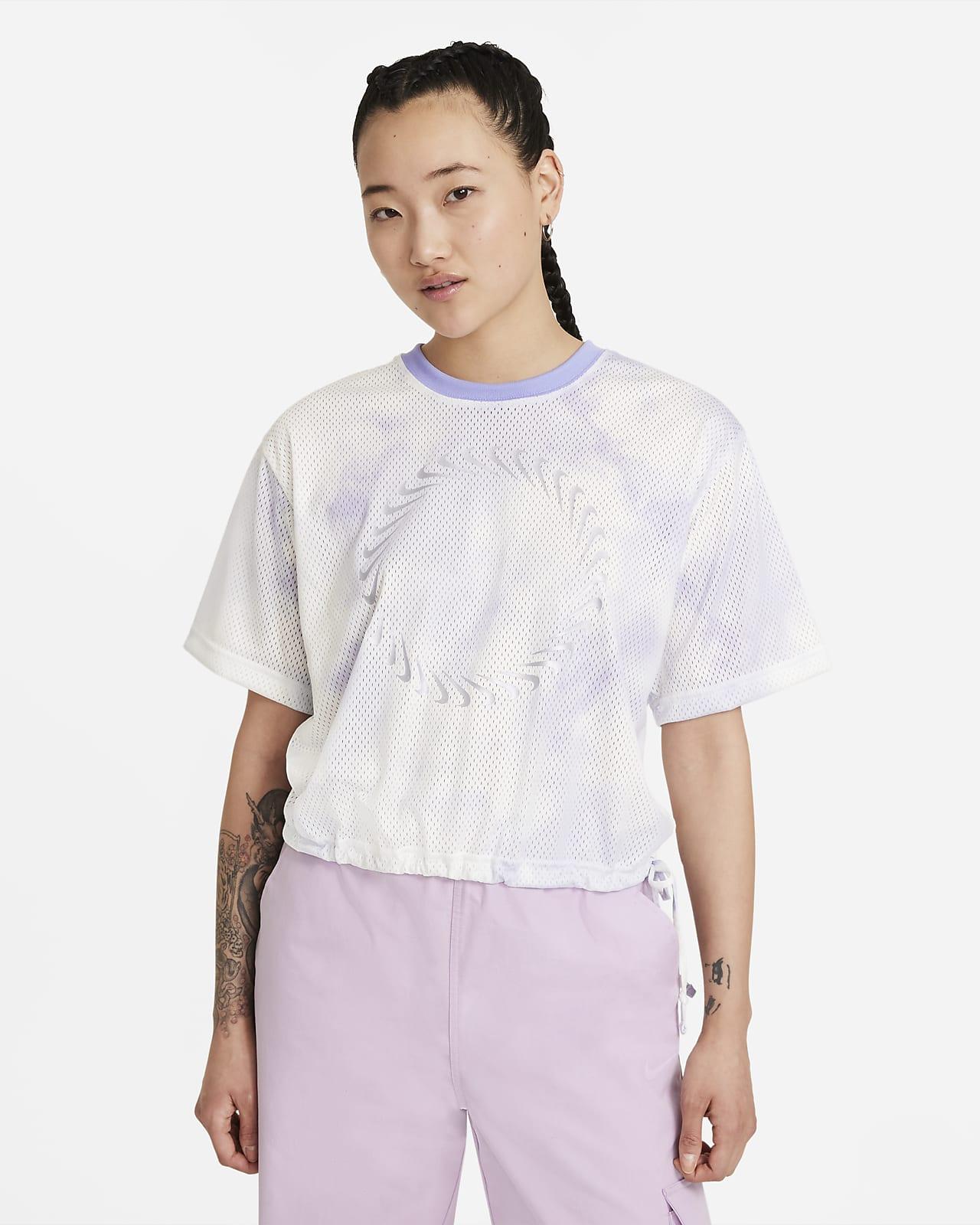 เสื้อแขนสั้นผู้หญิง Nike Sportswear Icon Clash