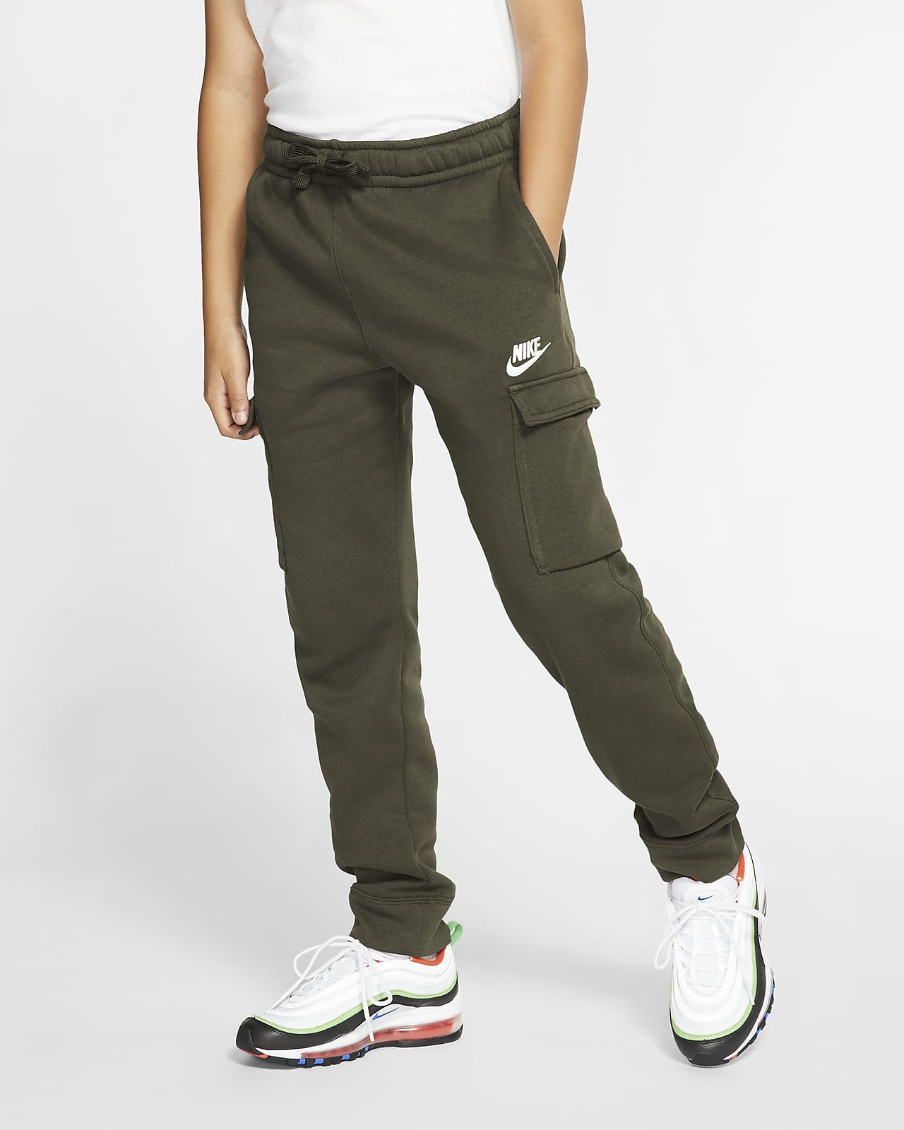 Calças cargo Nike Sportswear Club Júnior (Rapaz)