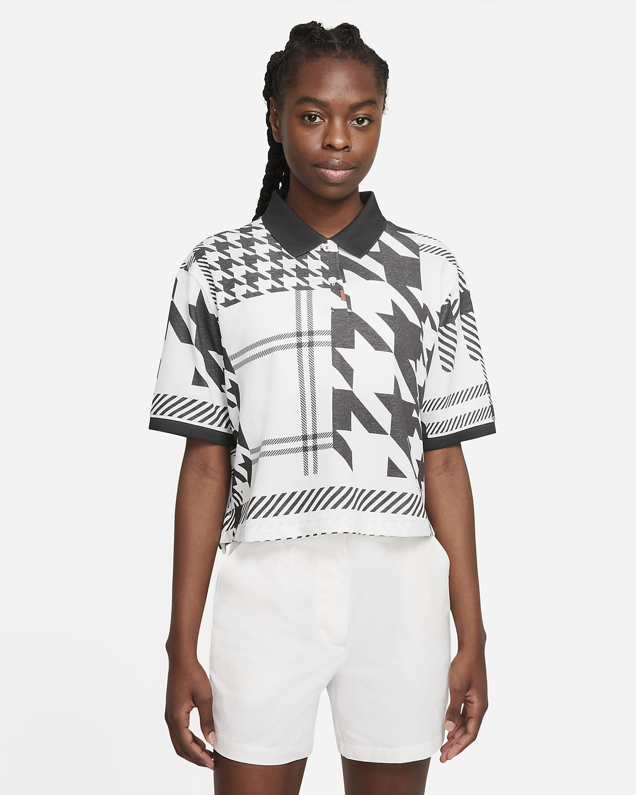 The Nike Polo Damen-Poloshirt mit Karomuster
