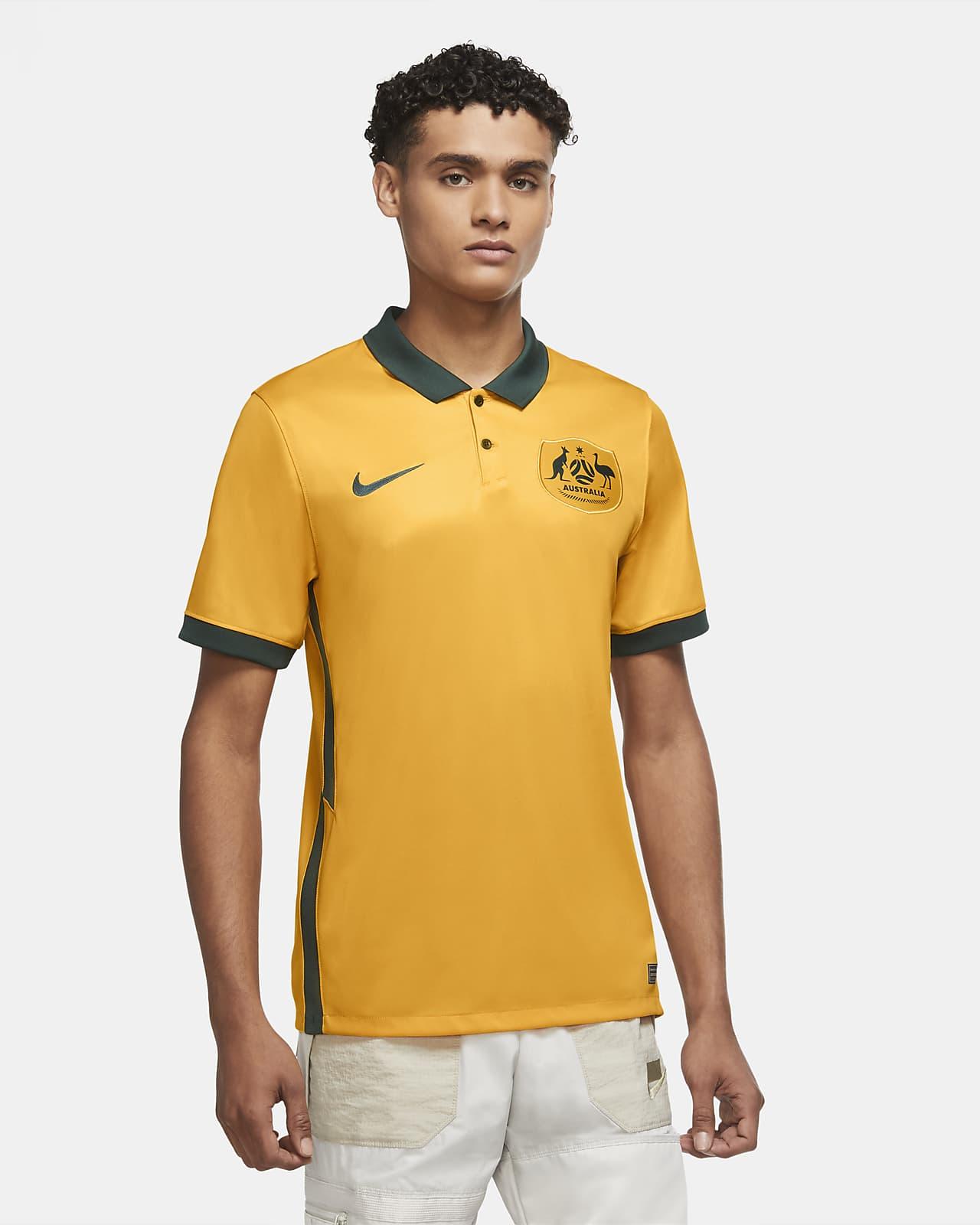 Camiseta de fútbol para hombre de local Australia 2020 Stadium