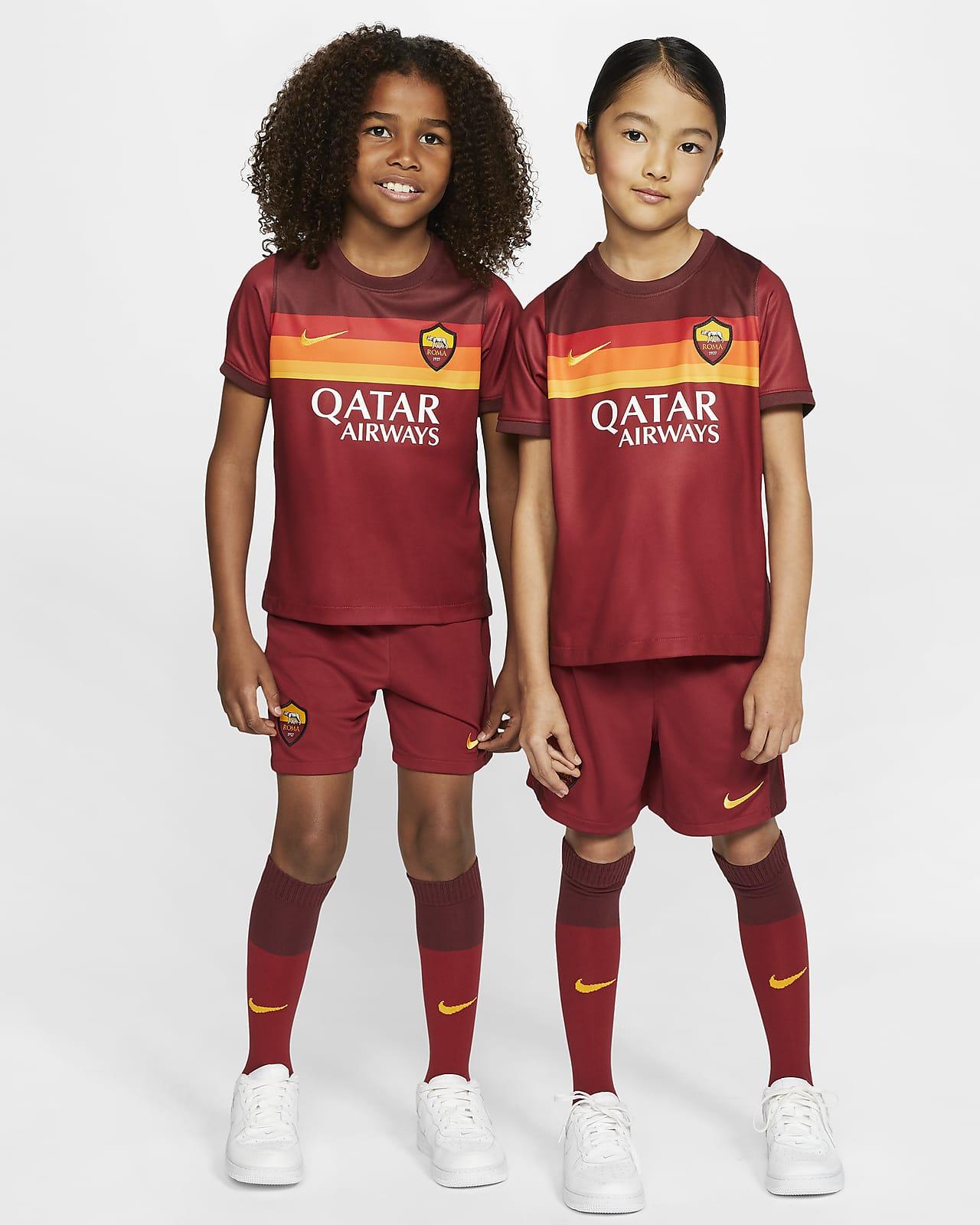 Kit de fútbol para niños pequeños A.S. Roma 2020/21 de local