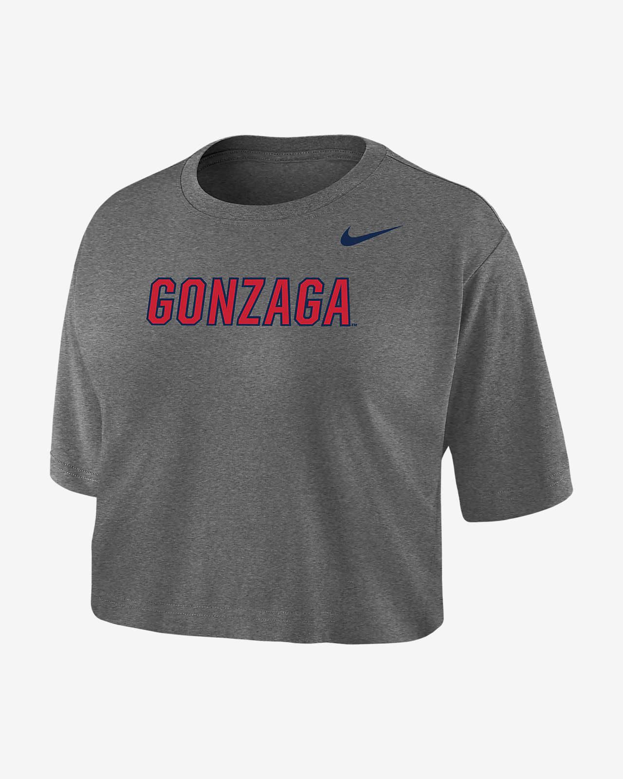 Nike College Dri-FIT (Gonzaga) Women's Crop T-Shirt