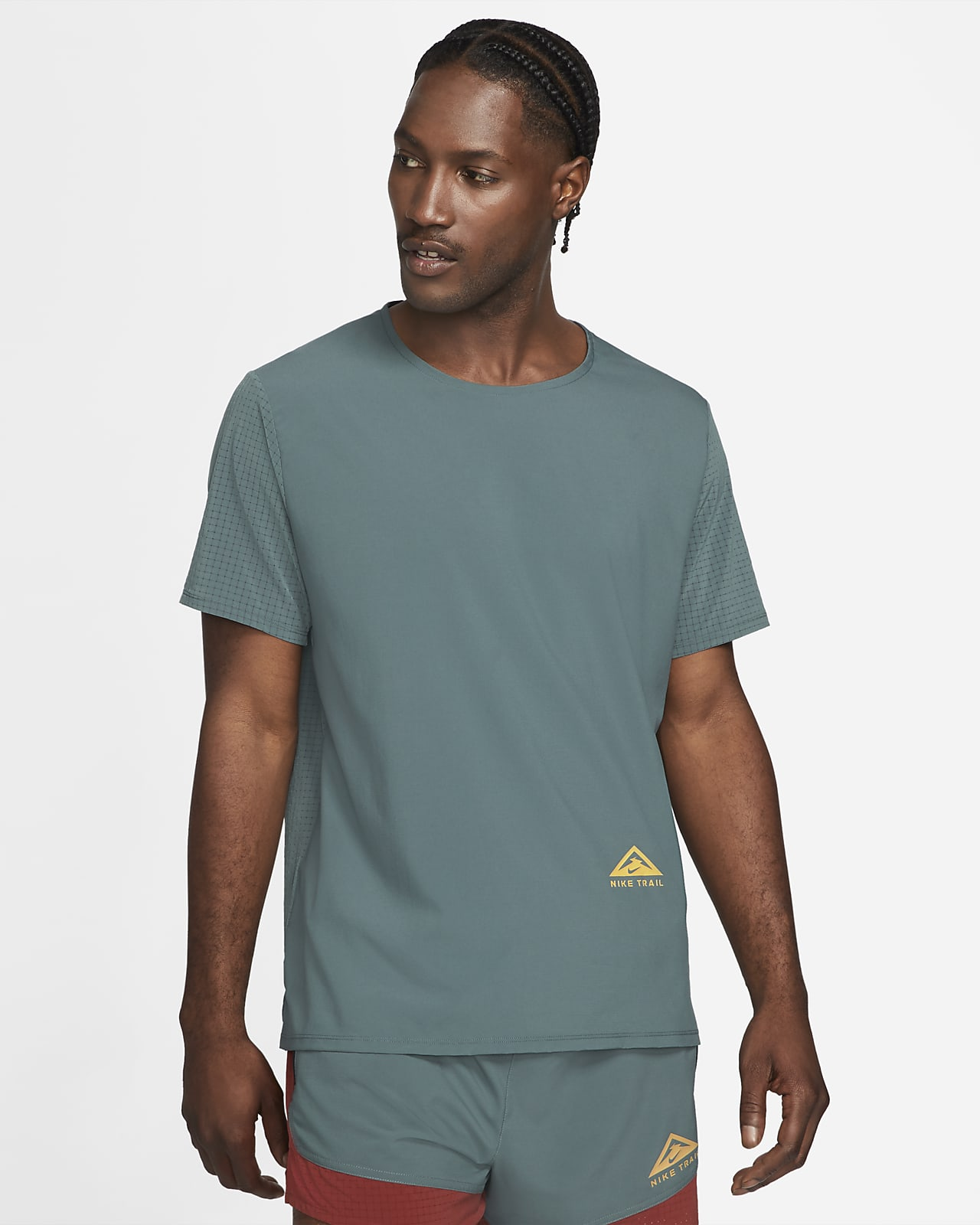 Běžecké tričko do terénu Nike Dri-FIT Rise 365 skrátkým rukávem