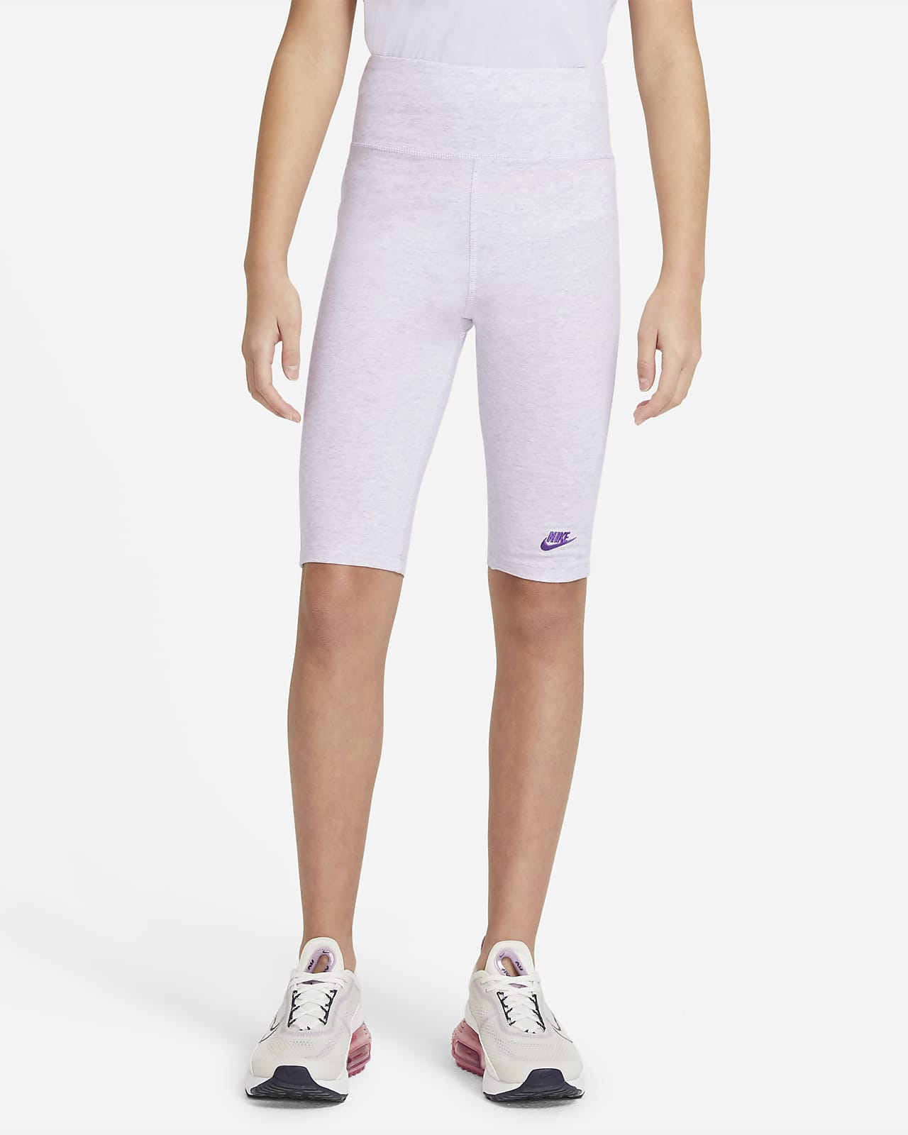 Nike Sportswear magas derekú 23 cm-es kerékpáros rövidnadrág nagyobb gyerekeknek (lányoknak)