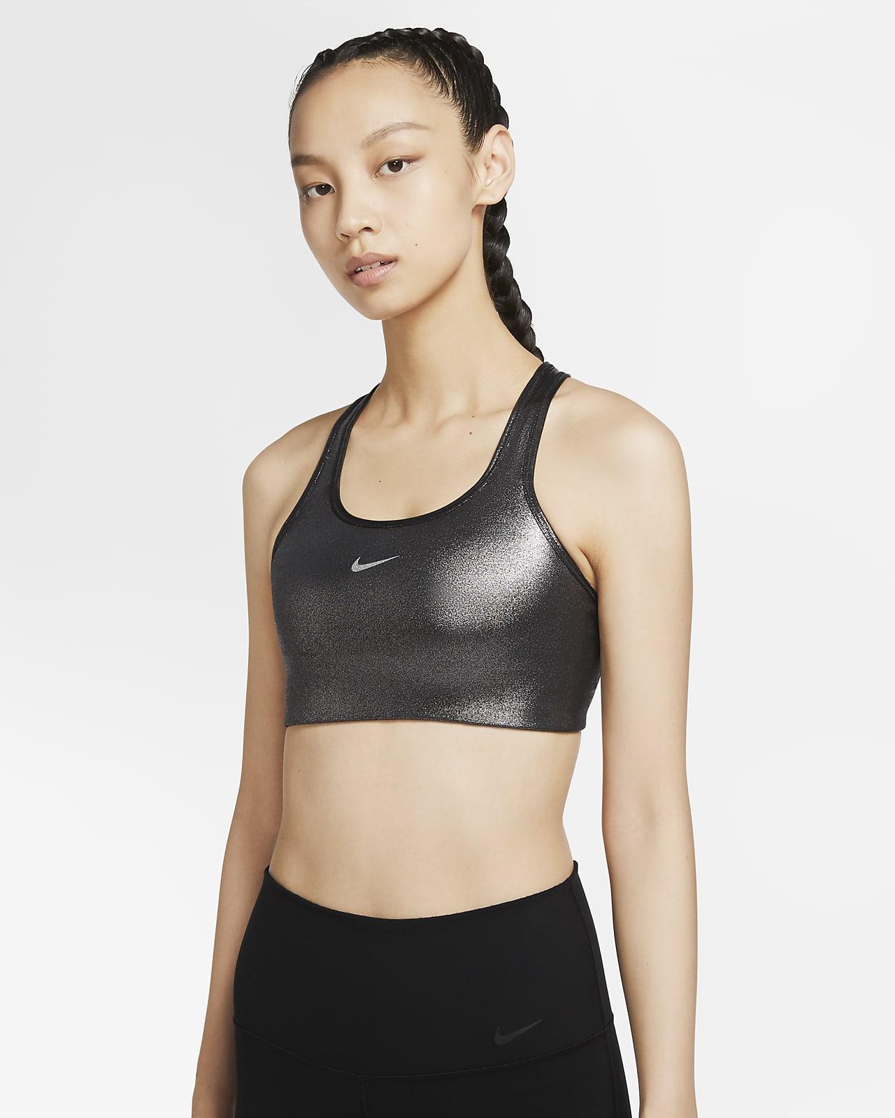 Nike Swoosh Icon Clash Women's Medium-Support Shimmer Sports Bra