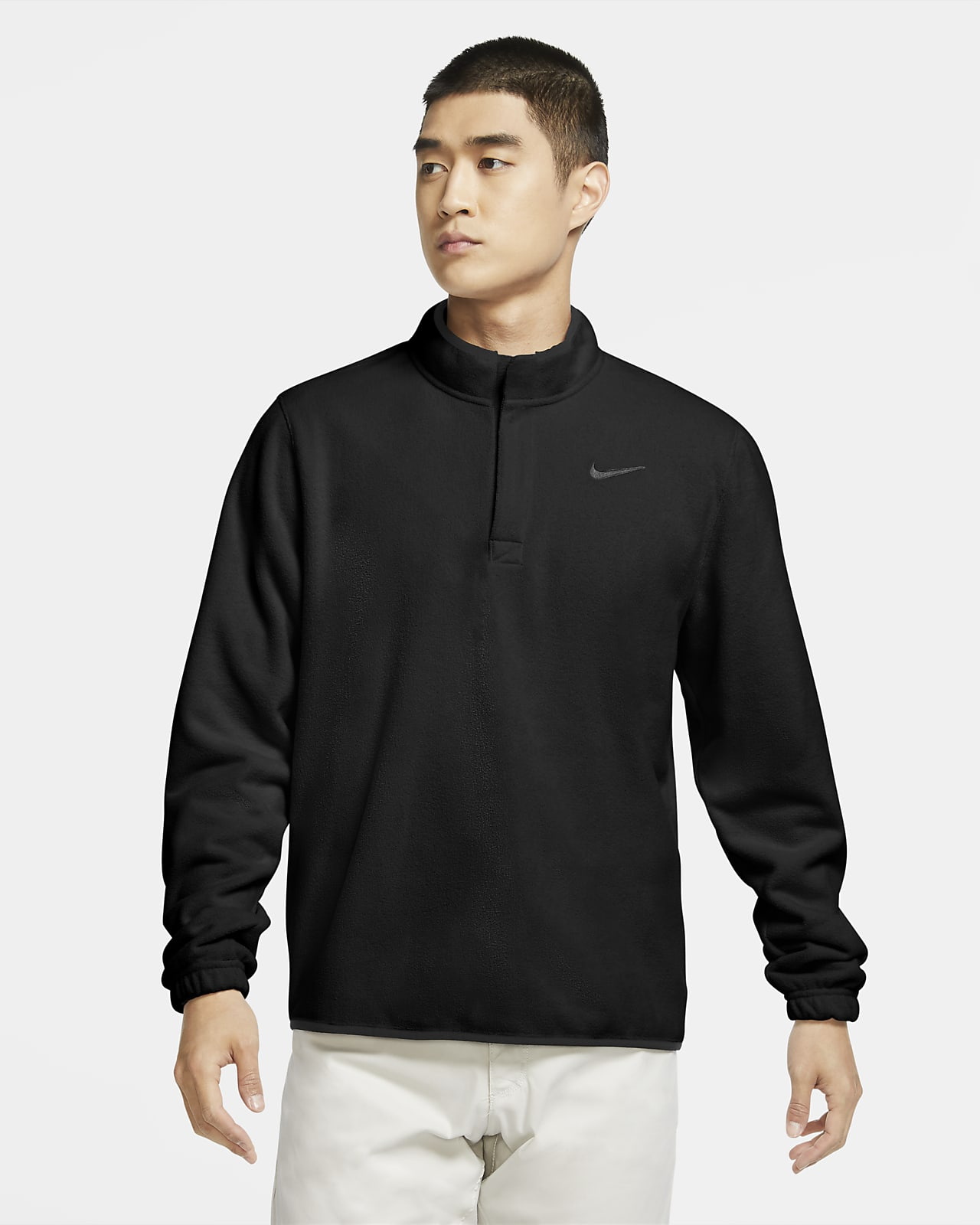 Nike Therma Victory golfoverdel med glidelås i halsen til herre