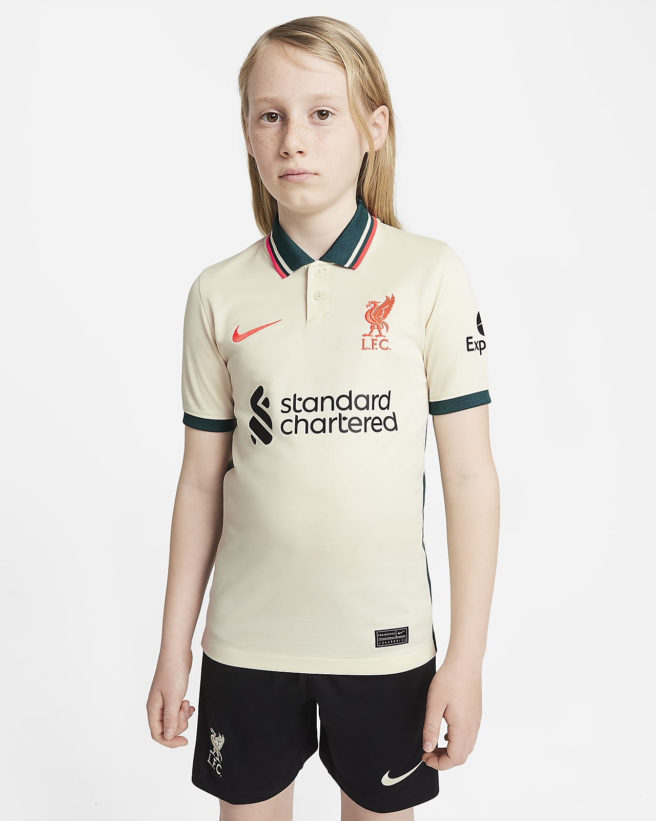 Liverpool FC 2021/22 Stadium Away Big Kids' Soccer Jersey