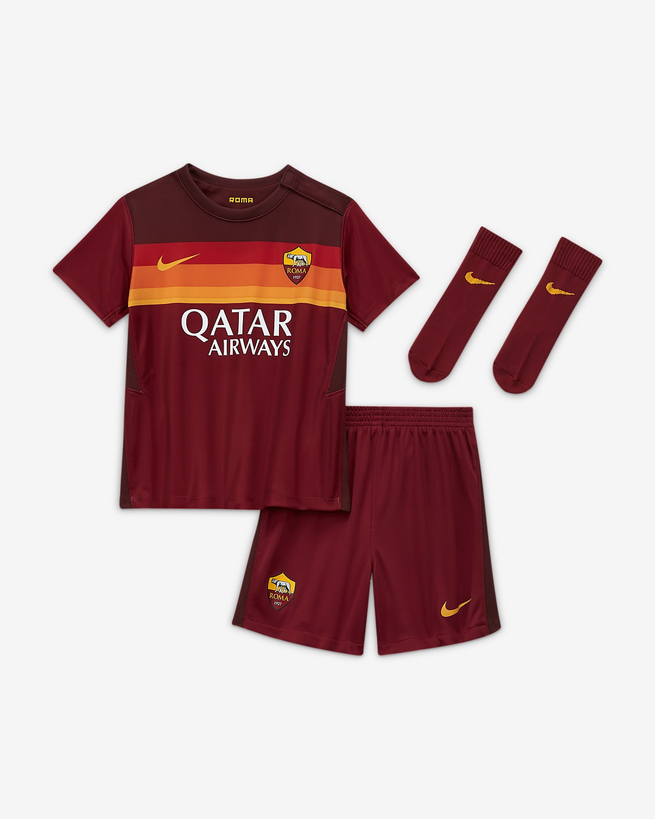 Tenue de football A.S. Roma 2020/21 Domicile pour Bébé et Petit enfant