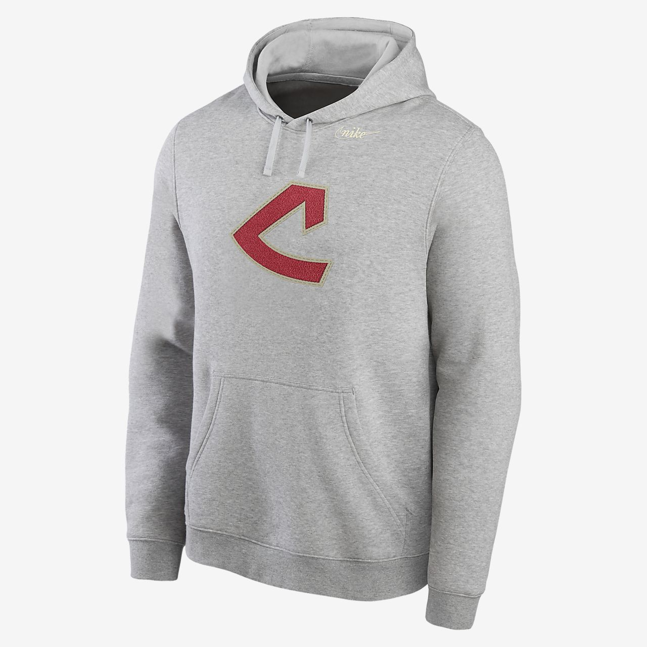 Nike Cooperstown Patch Club (MLB Cleveland Indians) Men's Pullover Hoodie
