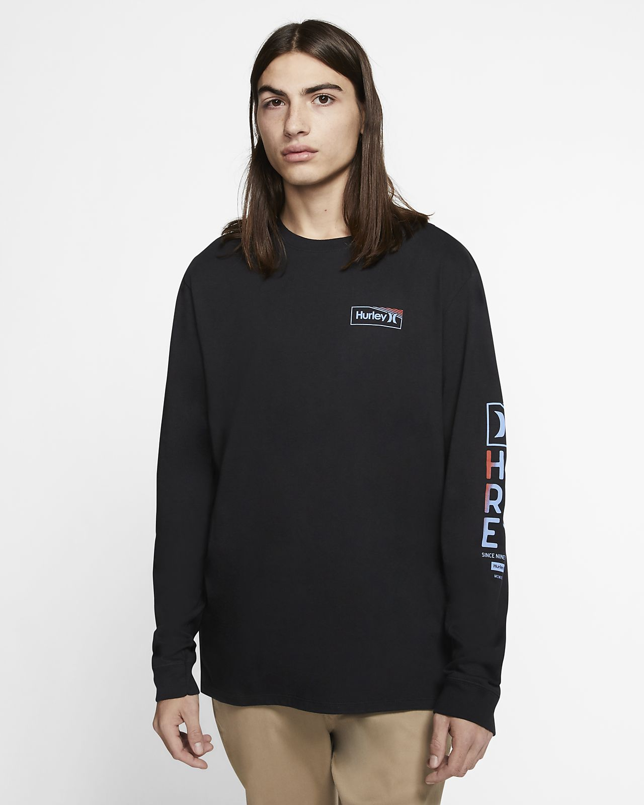 Hurley Premium One And Only Box Gradiate Men's Long Sleeve T-Shirt