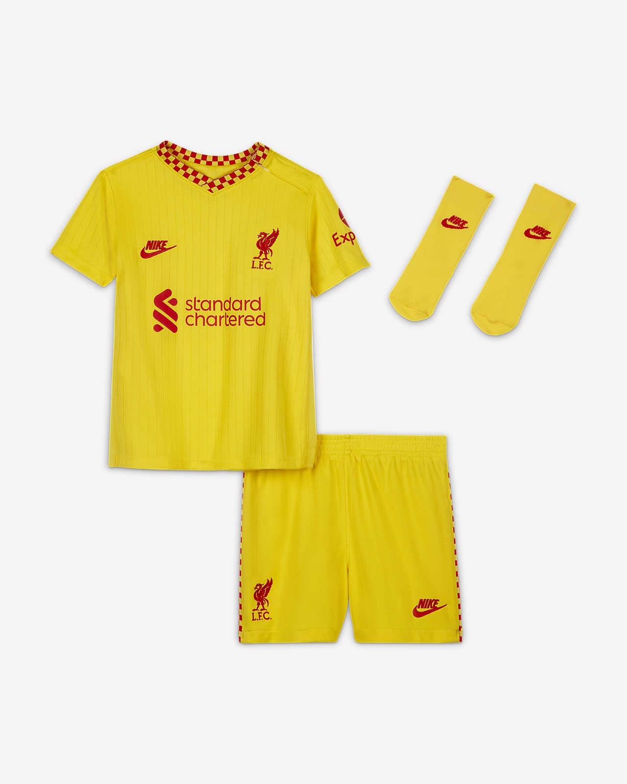 Terceiro equipamento Liverpool FC 2021/22 para bebé