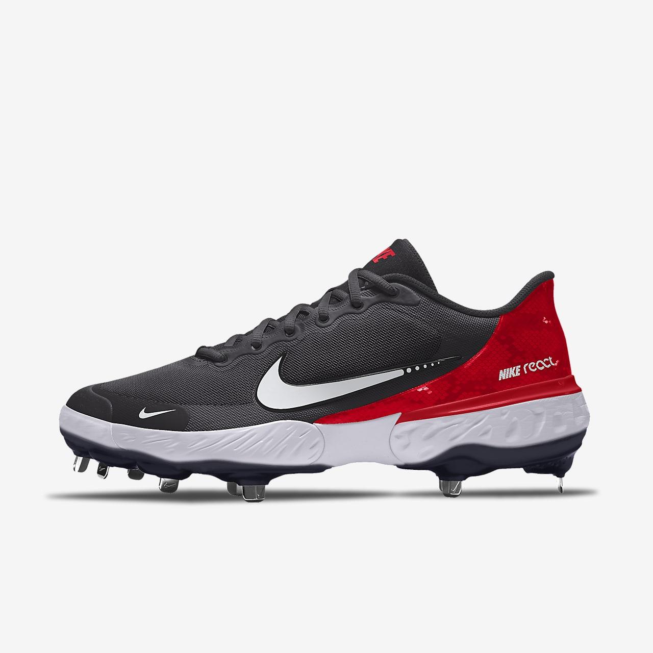 รองเท้าสตั๊ดเบสบอลออกแบบเอง Nike Alpha Huarache Elite 3 Low By You