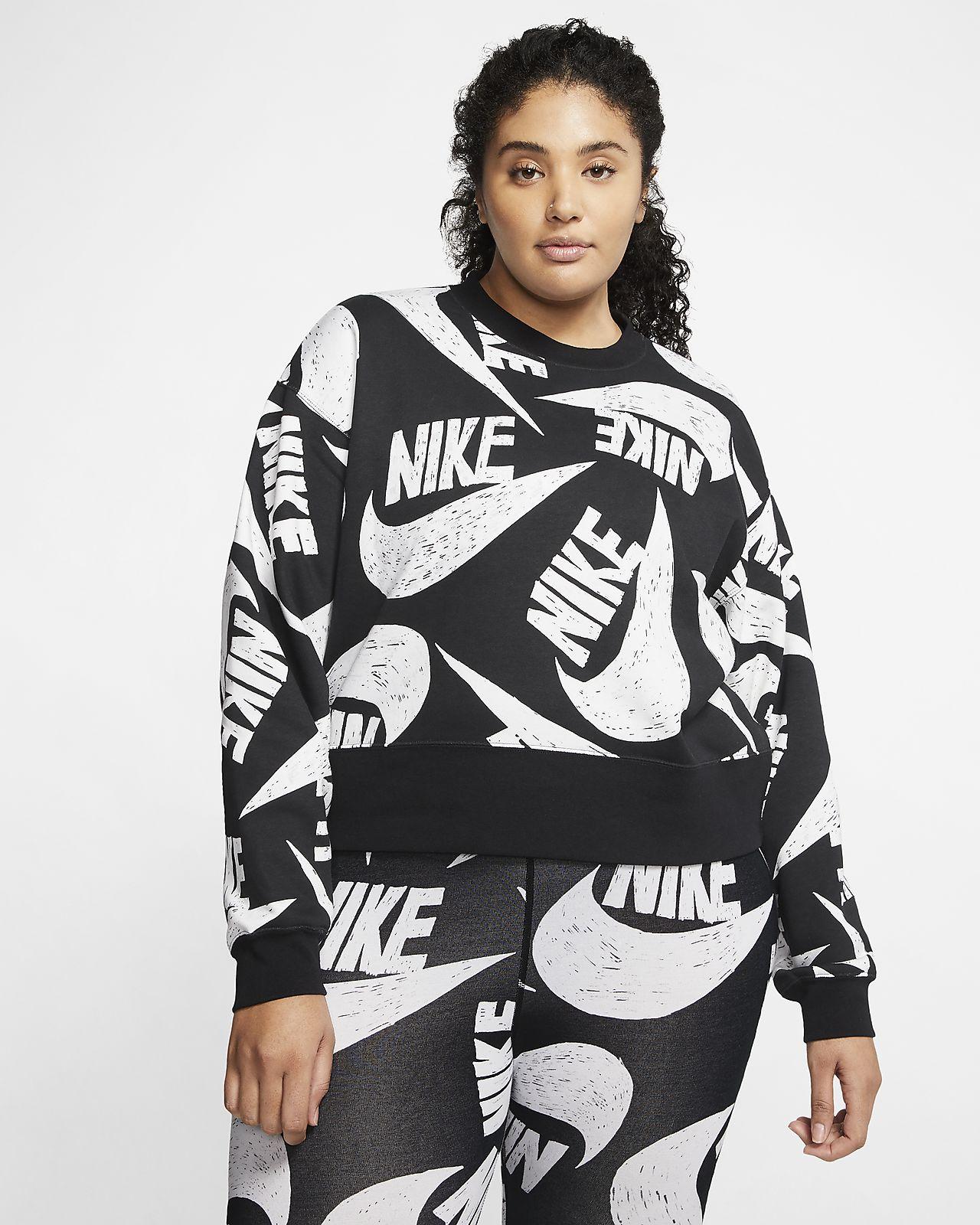 Sudadera de cuello redondo de tejido Fleece para mujer Nike Sportswear Icon Clash (talla grande)