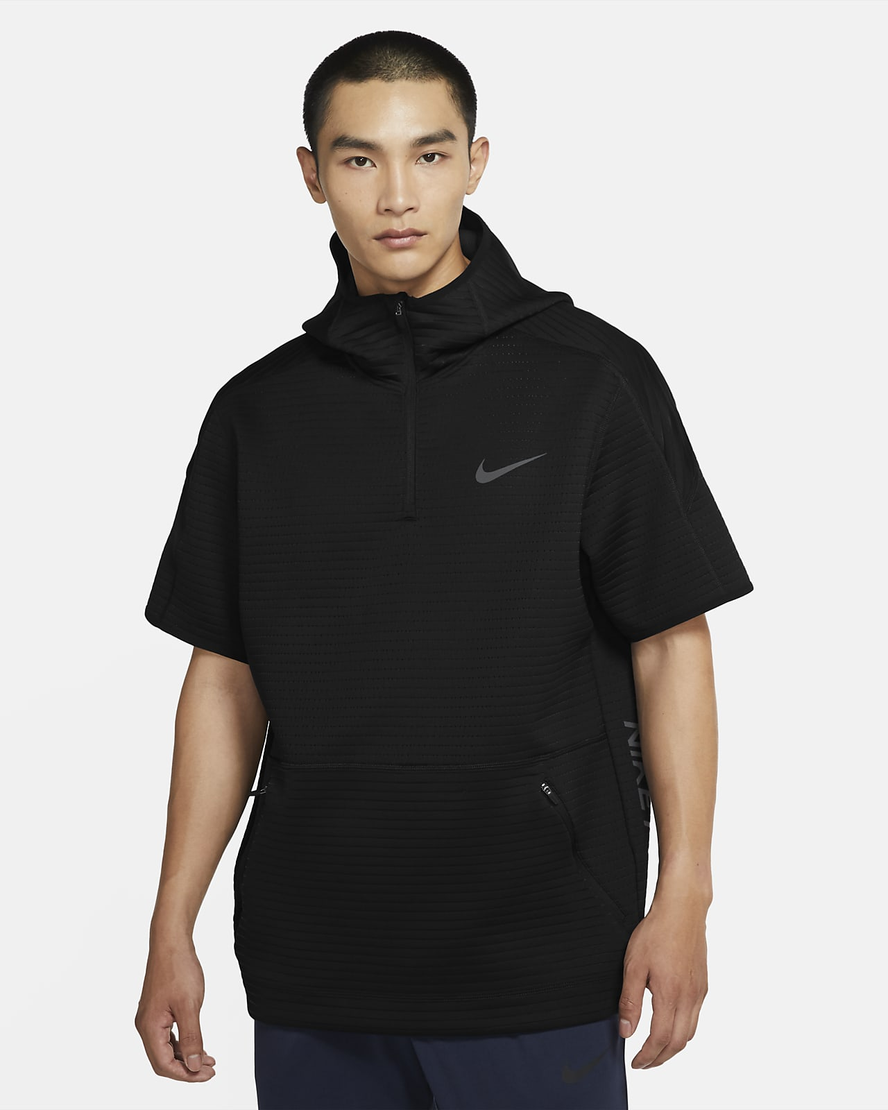 Nike Pro Men's Short-Sleeve 1/4-Zip Hoodie