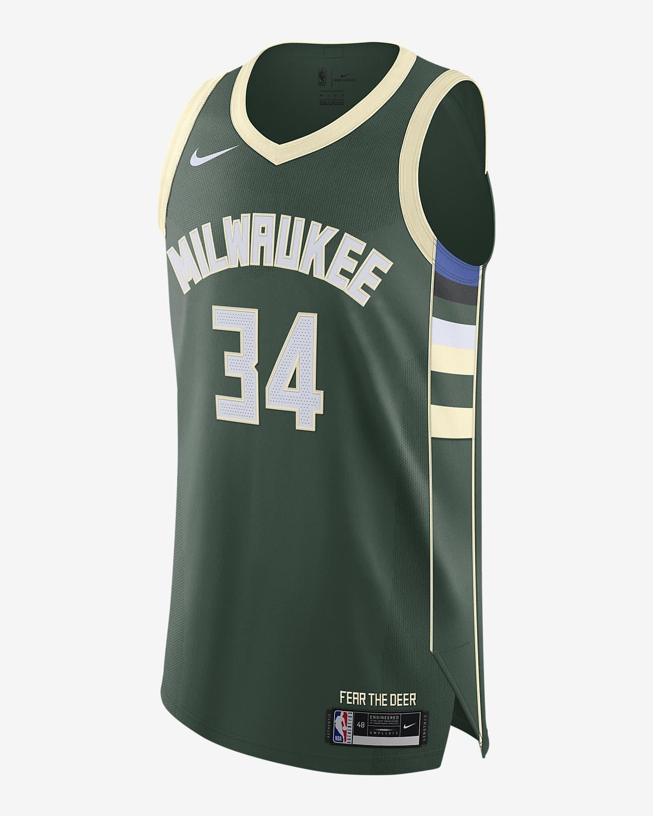 Giannis Antetokounmpo Bucks Icon Edition 2020 Nike NBA Authentic Jersey