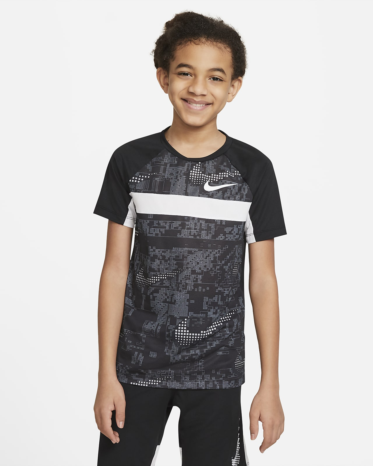 Nike Dominate Older Kids' (Boys') Short-Sleeve Printed Training Top