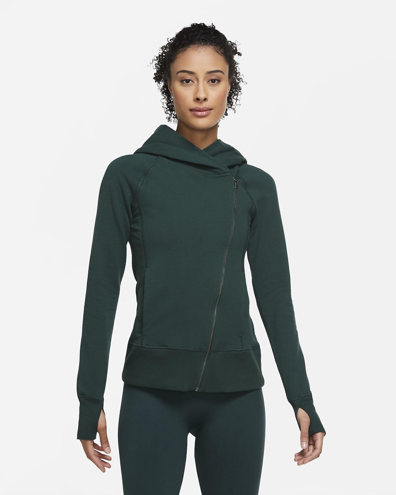 Sudadera con capucha de cierre completo para mujer Nike Yoga