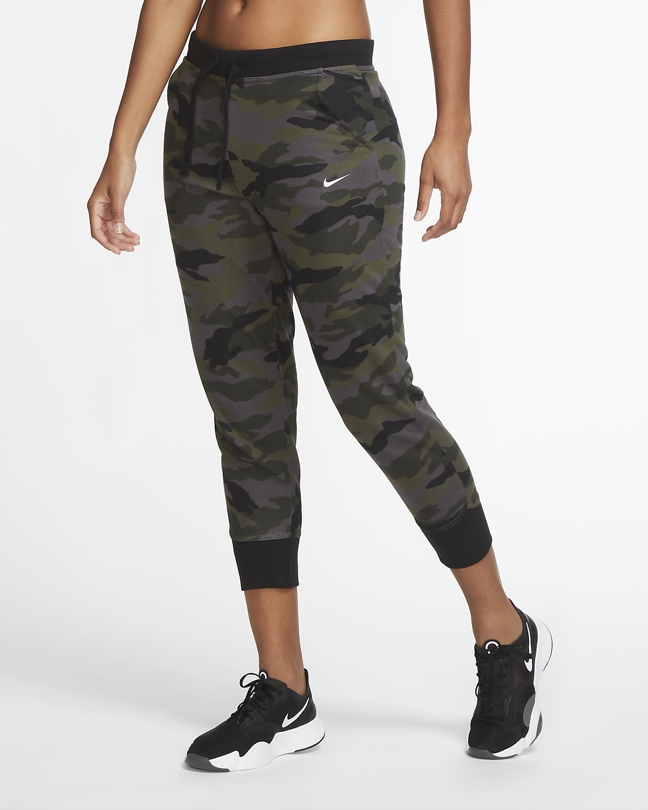 Nike Dri-FIT Get Fit Women's 7/8 Camo Training Trousers