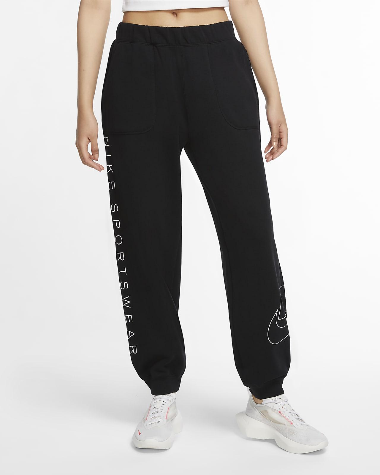 Calças de lã cardada Nike Sportswear NSW para mulher