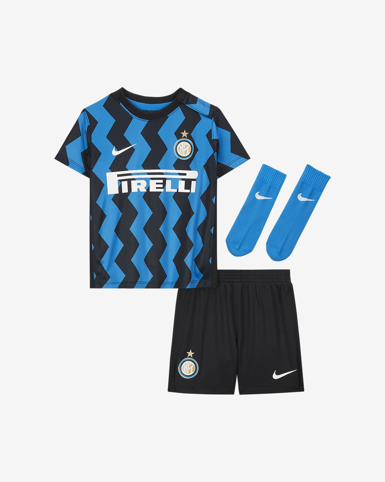 Strój piłkarski dla niemowląt Inter Mediolan 2020/21 Home