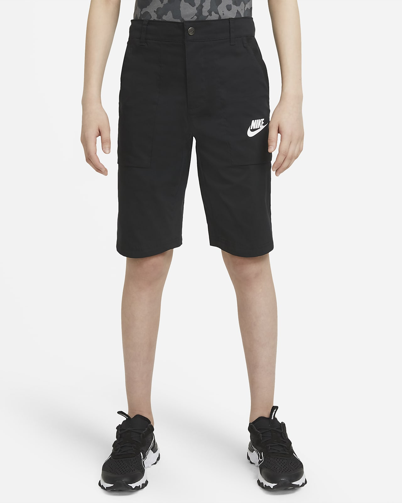 Shorts cargo in tessuto Nike Sportswear - Ragazzo